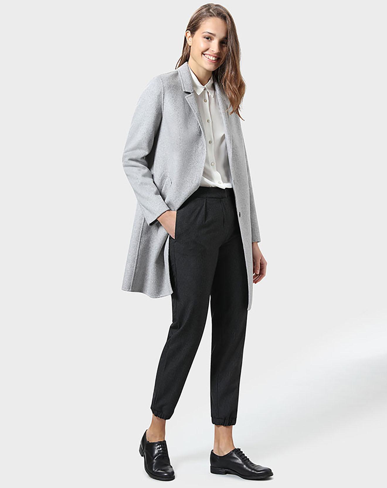 Pantalon Sophie gris anthracite - Stefanel - Modalova