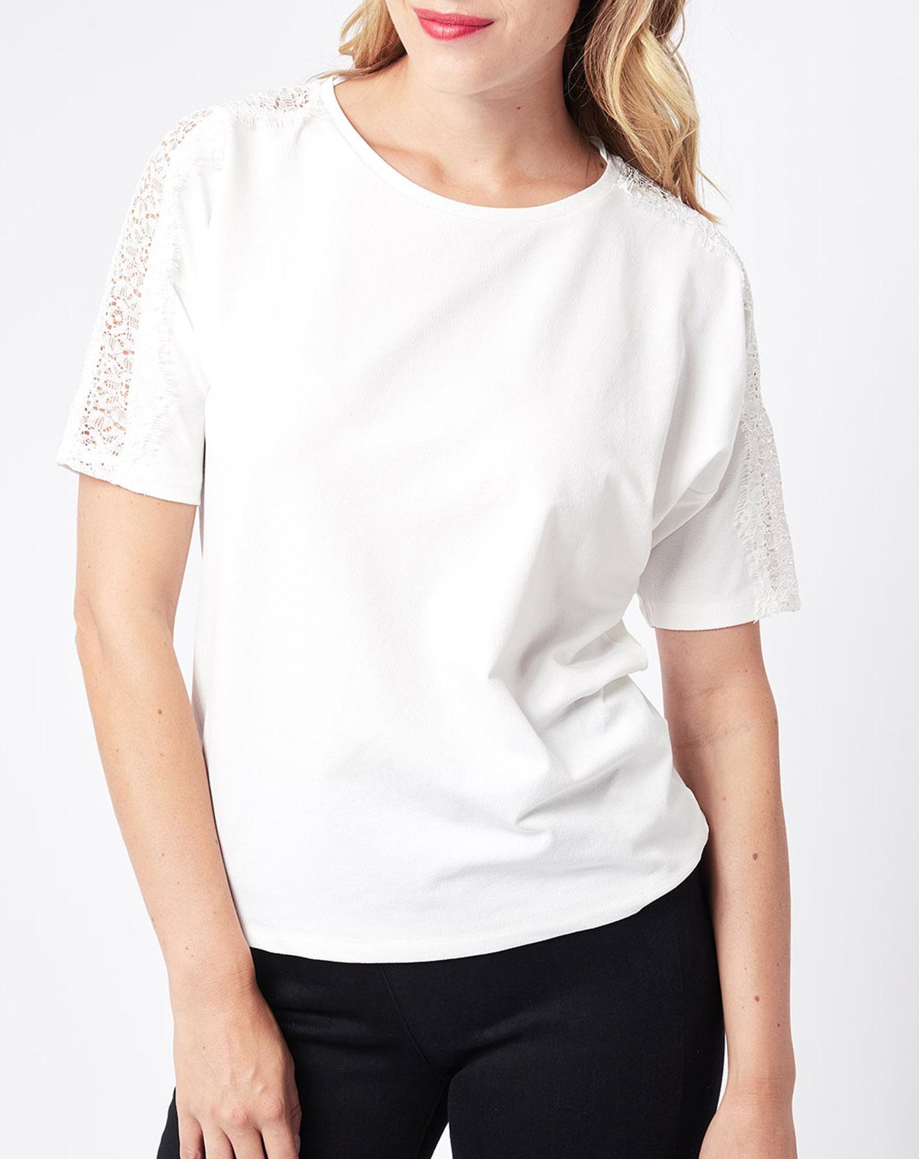 T-Shirt coupe ample blanc - Esprit - Modalova