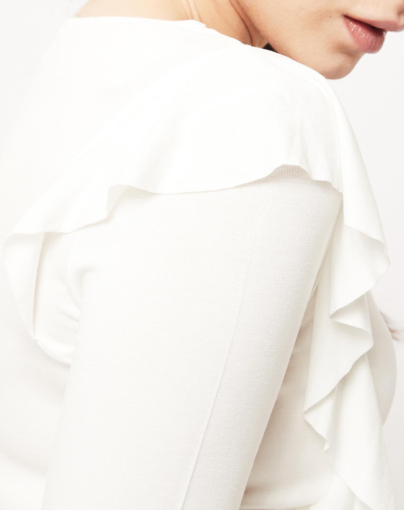 T-Shirt à volants blanc - Esprit - Modalova