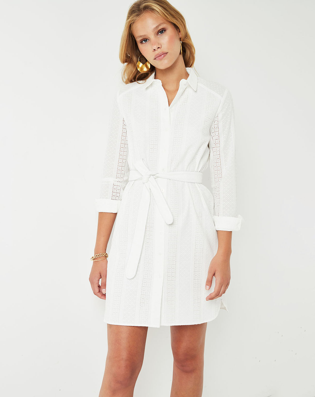 Robe brodée Eclose blanche - Cuisse de Grenouille - Modalova