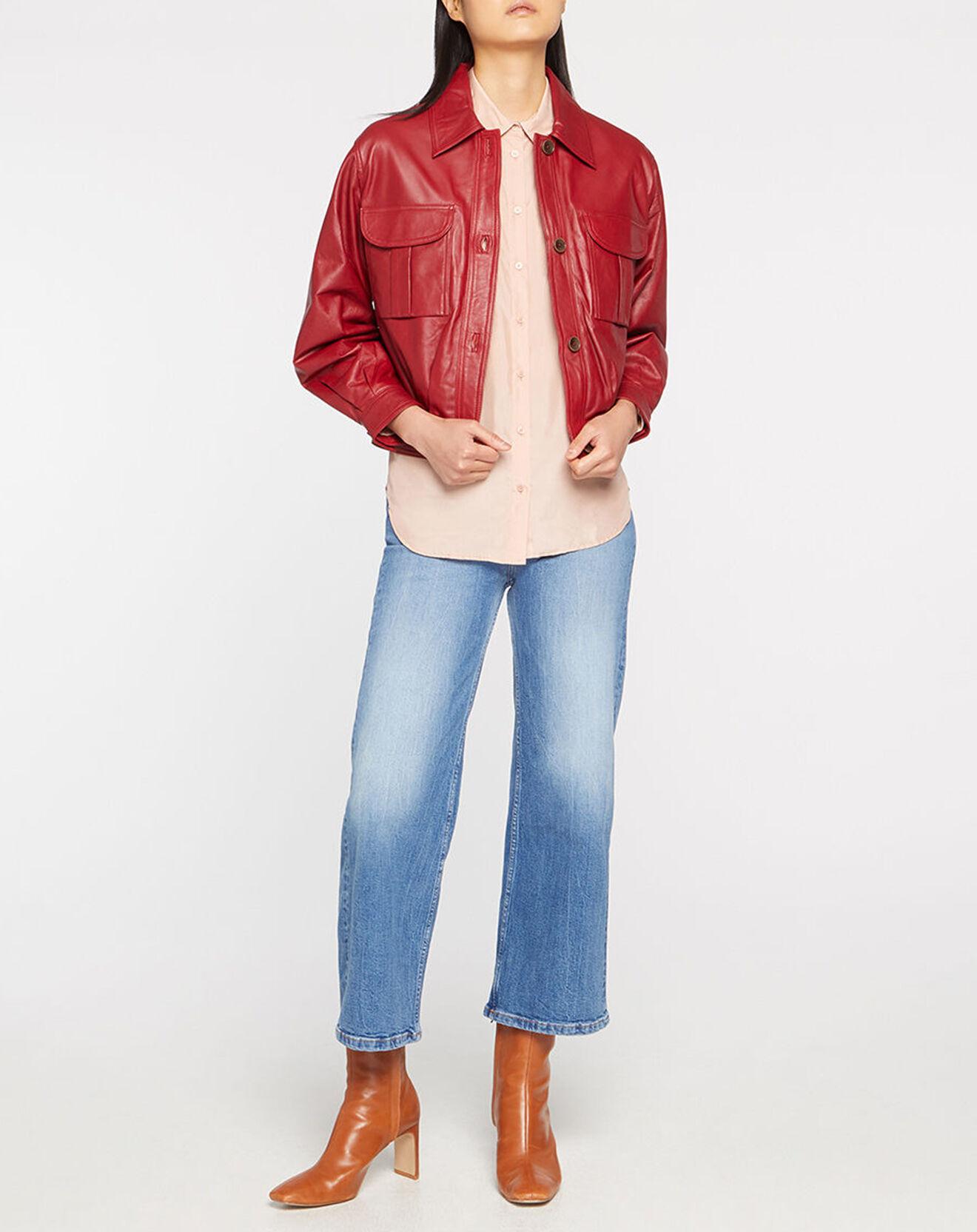 Veste en Cuir rouge - Pepe Jeans - Modalova