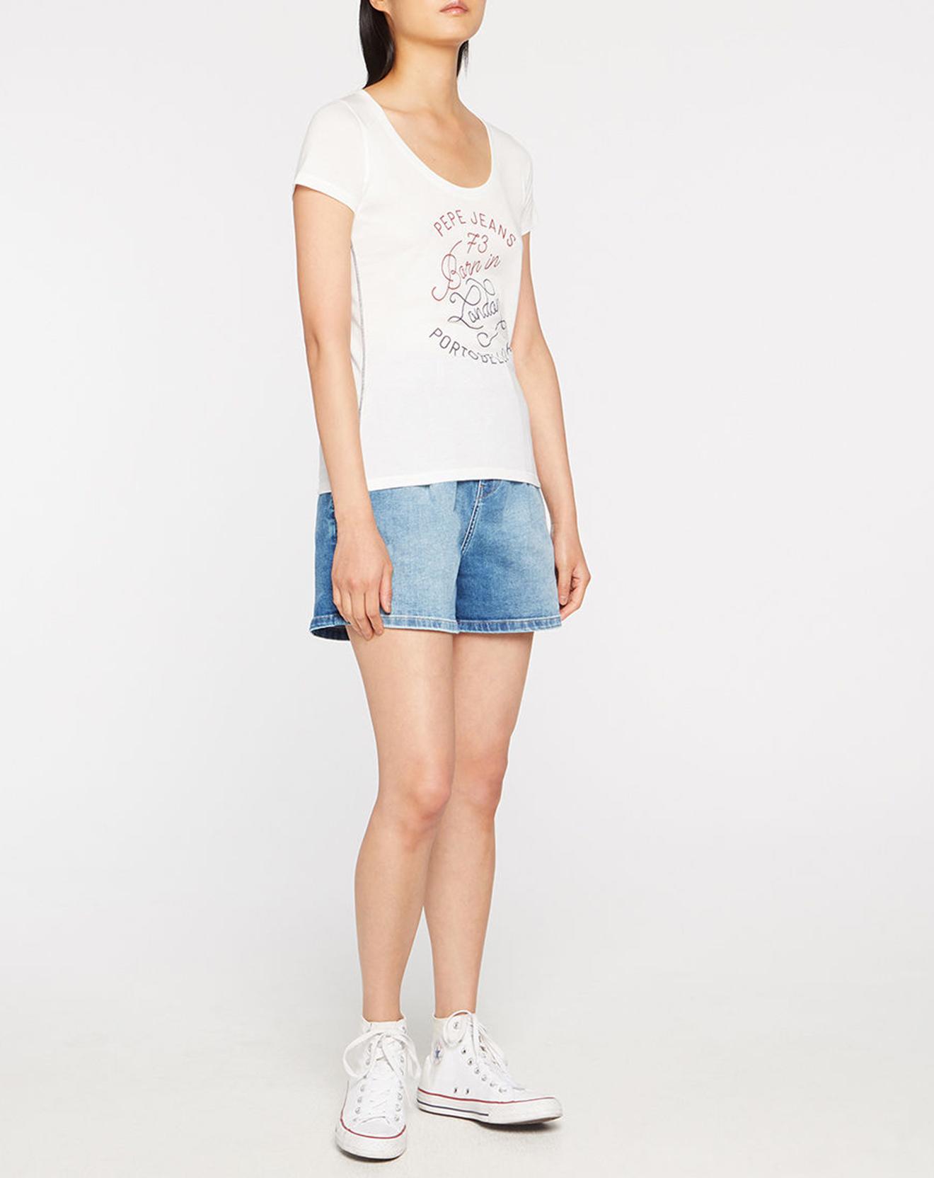 T-Shirt Logo Born In Ldn blanc - Pepe Jeans - Modalova