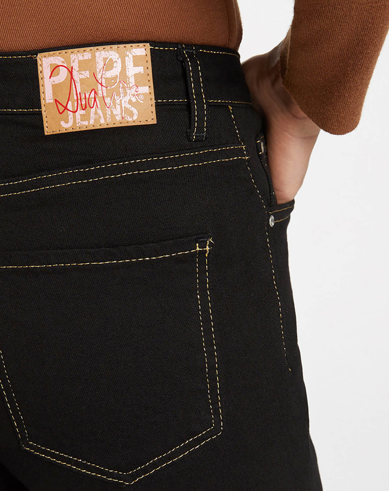 Jean Straight Tr Coutures Or noir - Pepe Jeans - Modalova