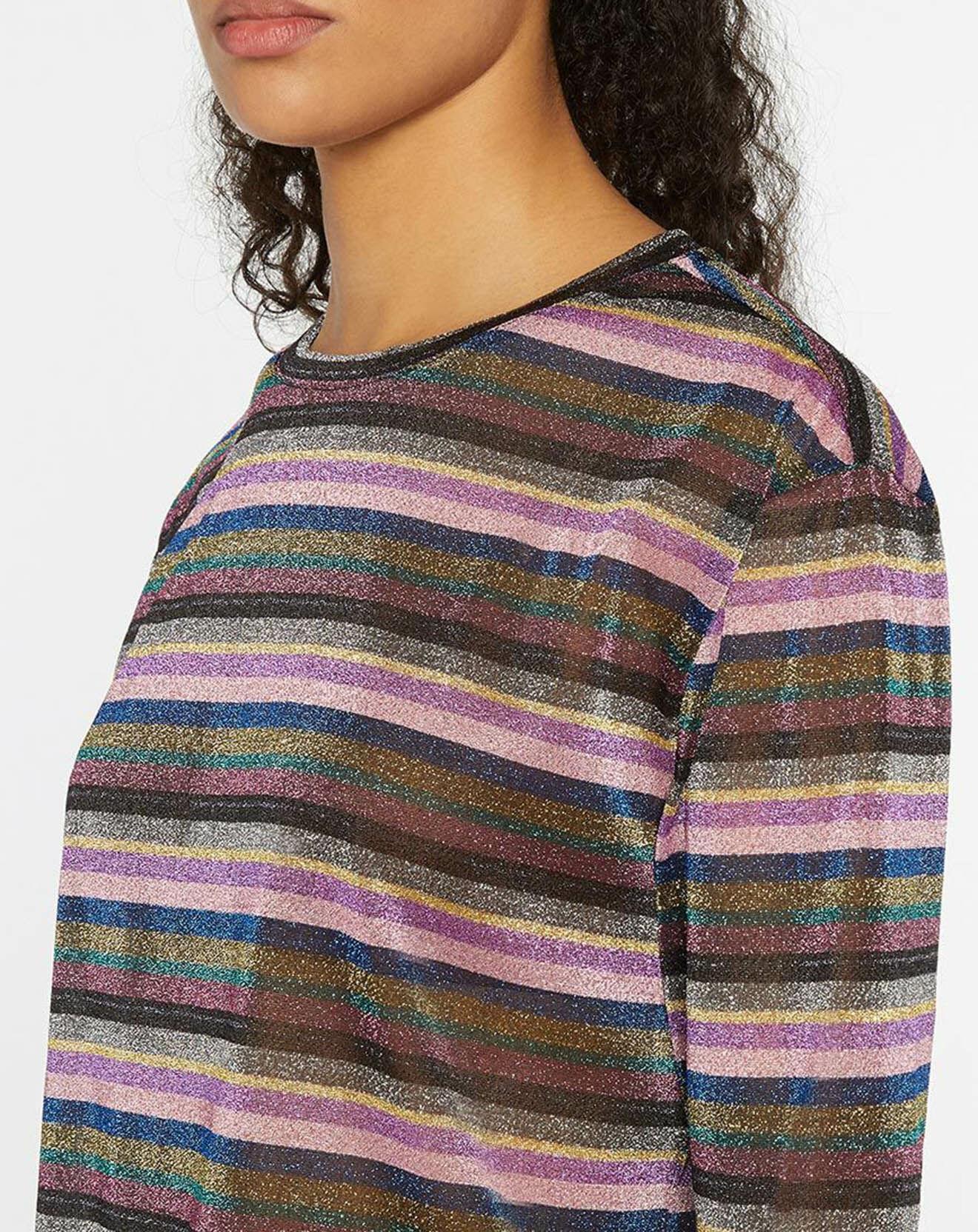 T-Shirt rayé Lurex multicolore - Pepe Jeans - Modalova
