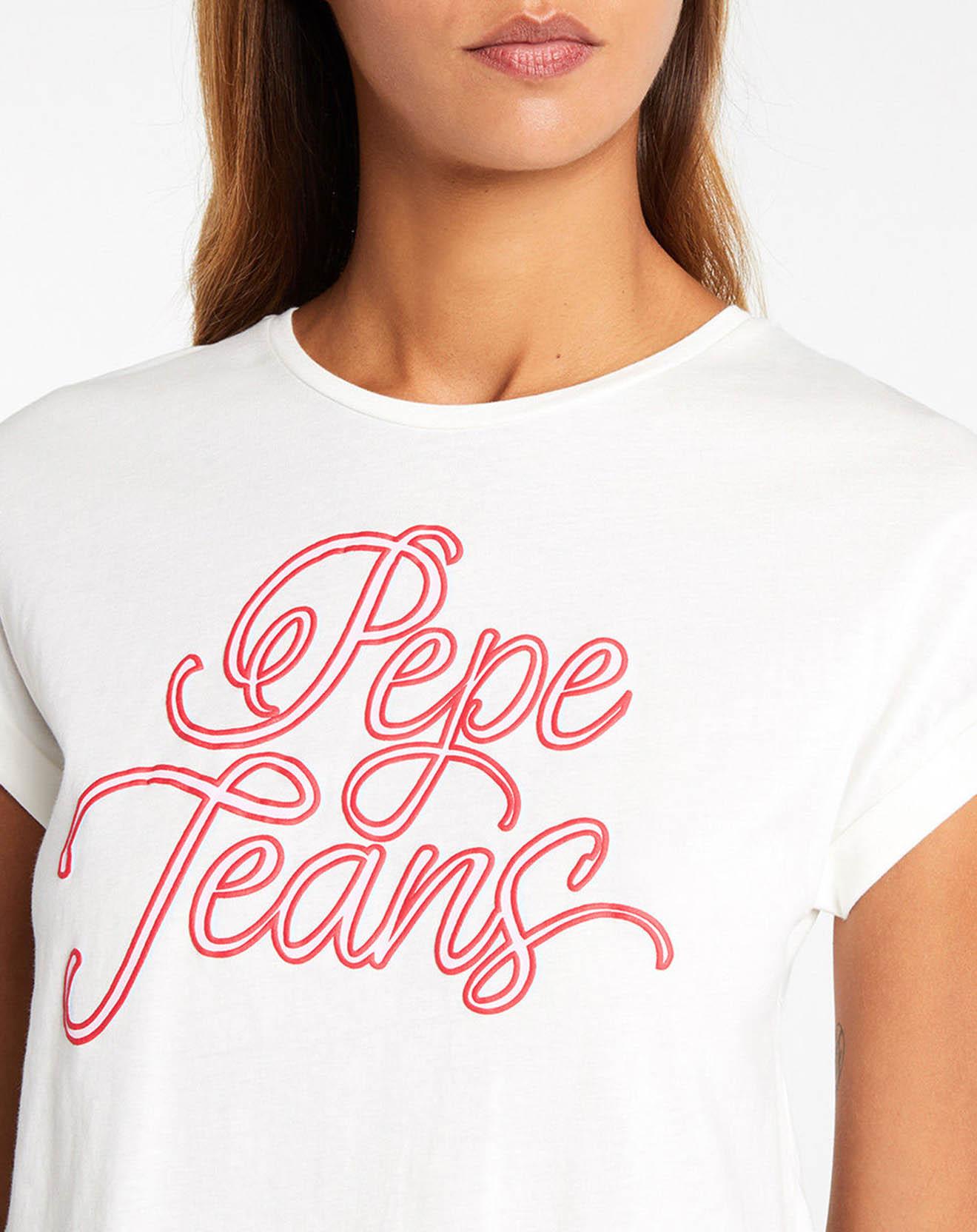 T-Shirt Logo Pepe blanc - Pepe Jeans - Modalova