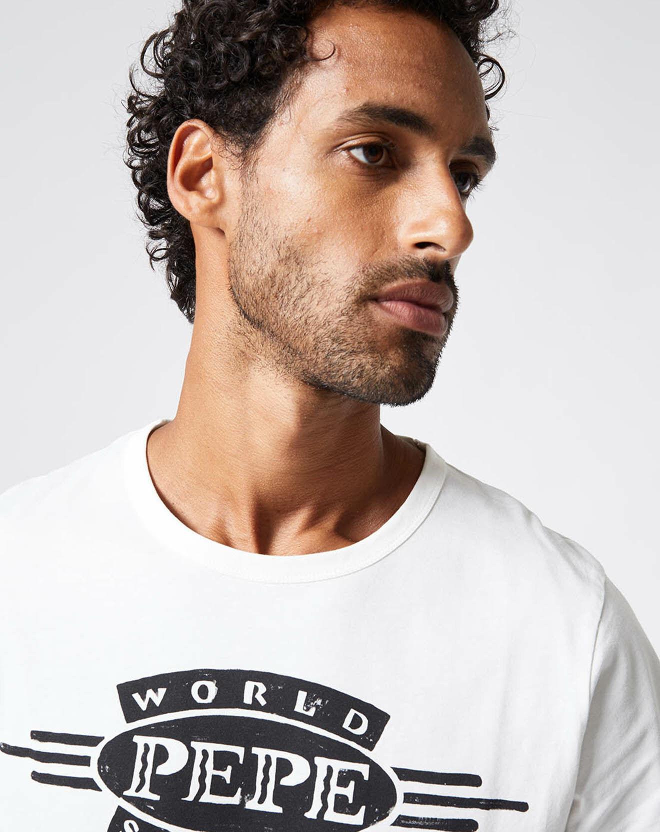 T-Shirt Devon Pepe blanc - Pepe Jeans - Modalova