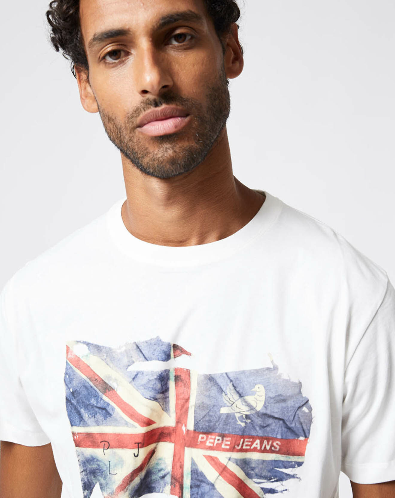 T-Shirt Flag Sid blanc - Pepe Jeans - Modalova