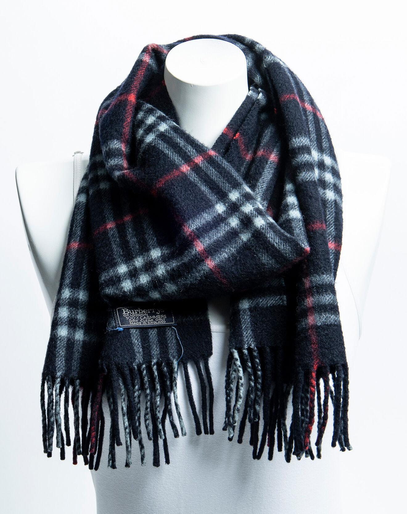 Foulard Muffler en Soie noir/rouge/gris 145x31 cm