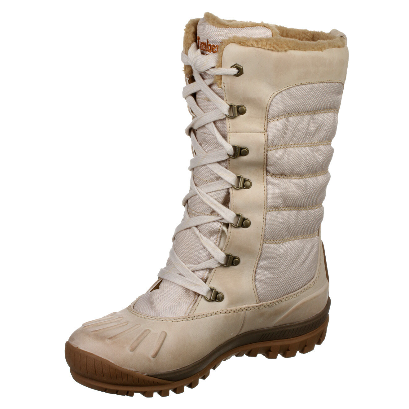 timberland chaussures montantes holly tall duck en cuir beige ebay. Black Bedroom Furniture Sets. Home Design Ideas