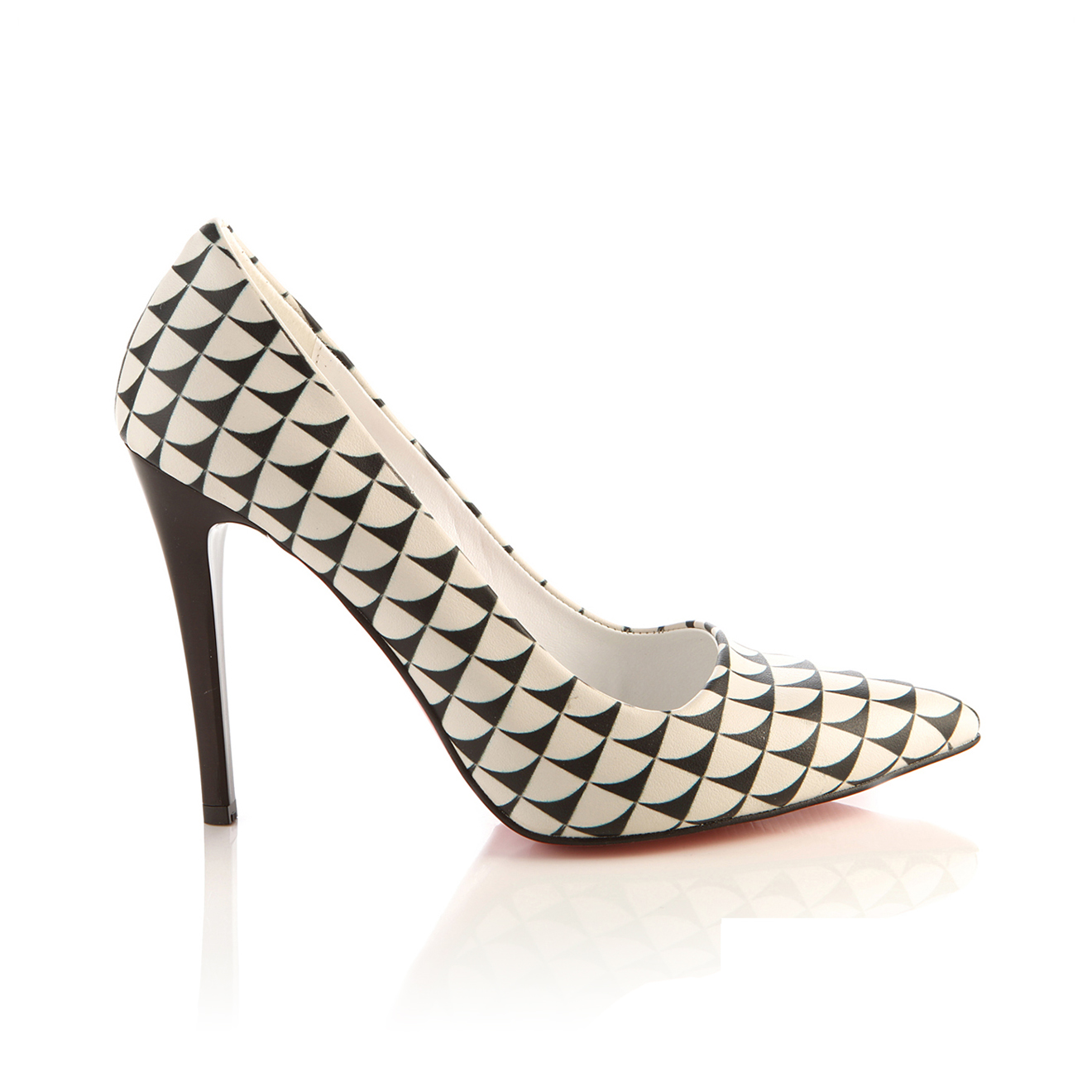 Escarpins Pumps noir/blanc Talon 10 cm