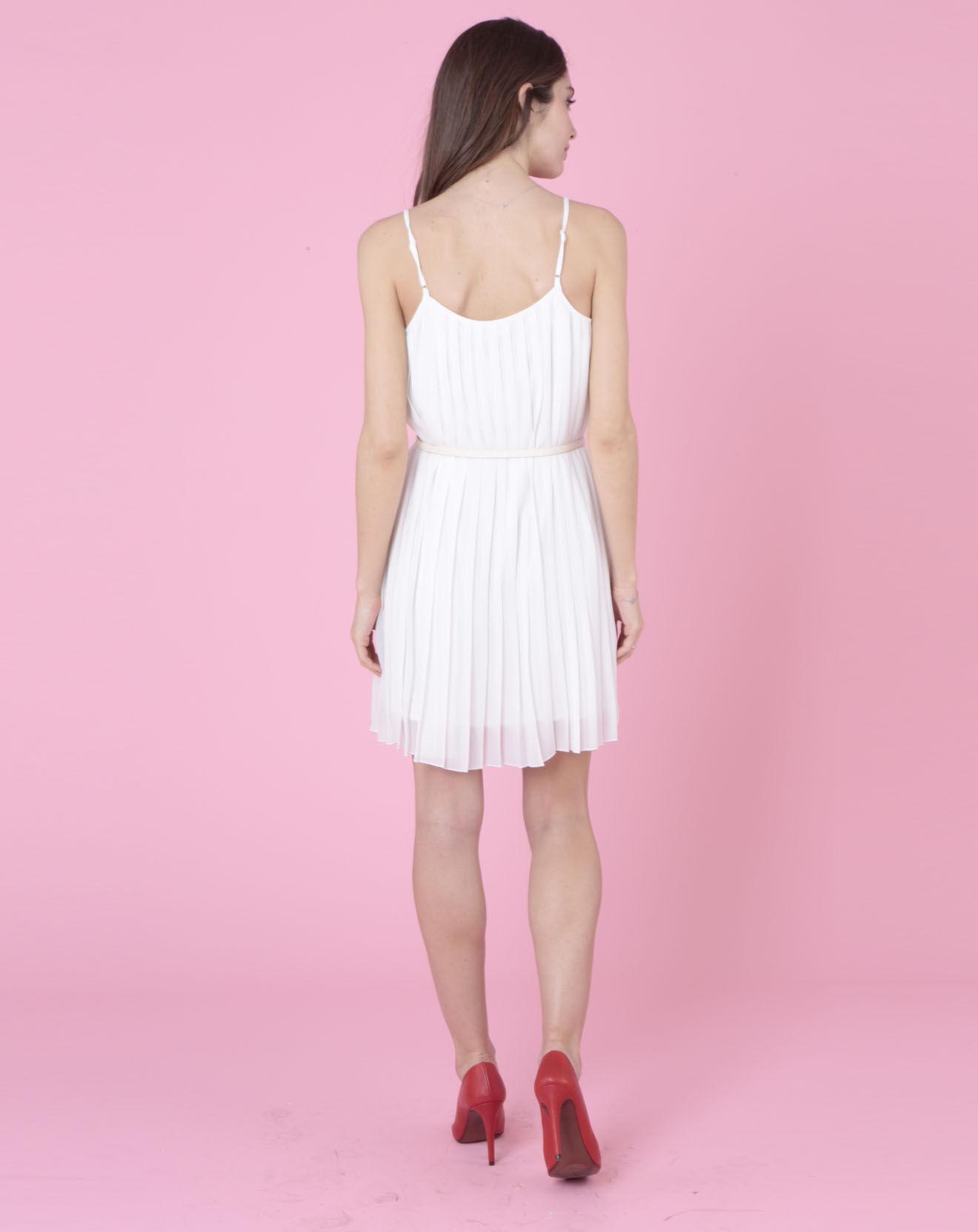 Best-Mountain-Femme-Robe-fines-bretelles-et-ceinture-ecrue