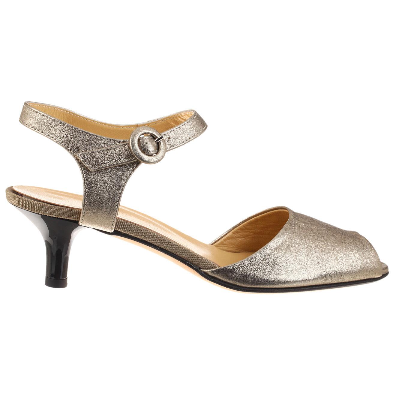 Sandales en Cuir dorées - Talon 5 cm
