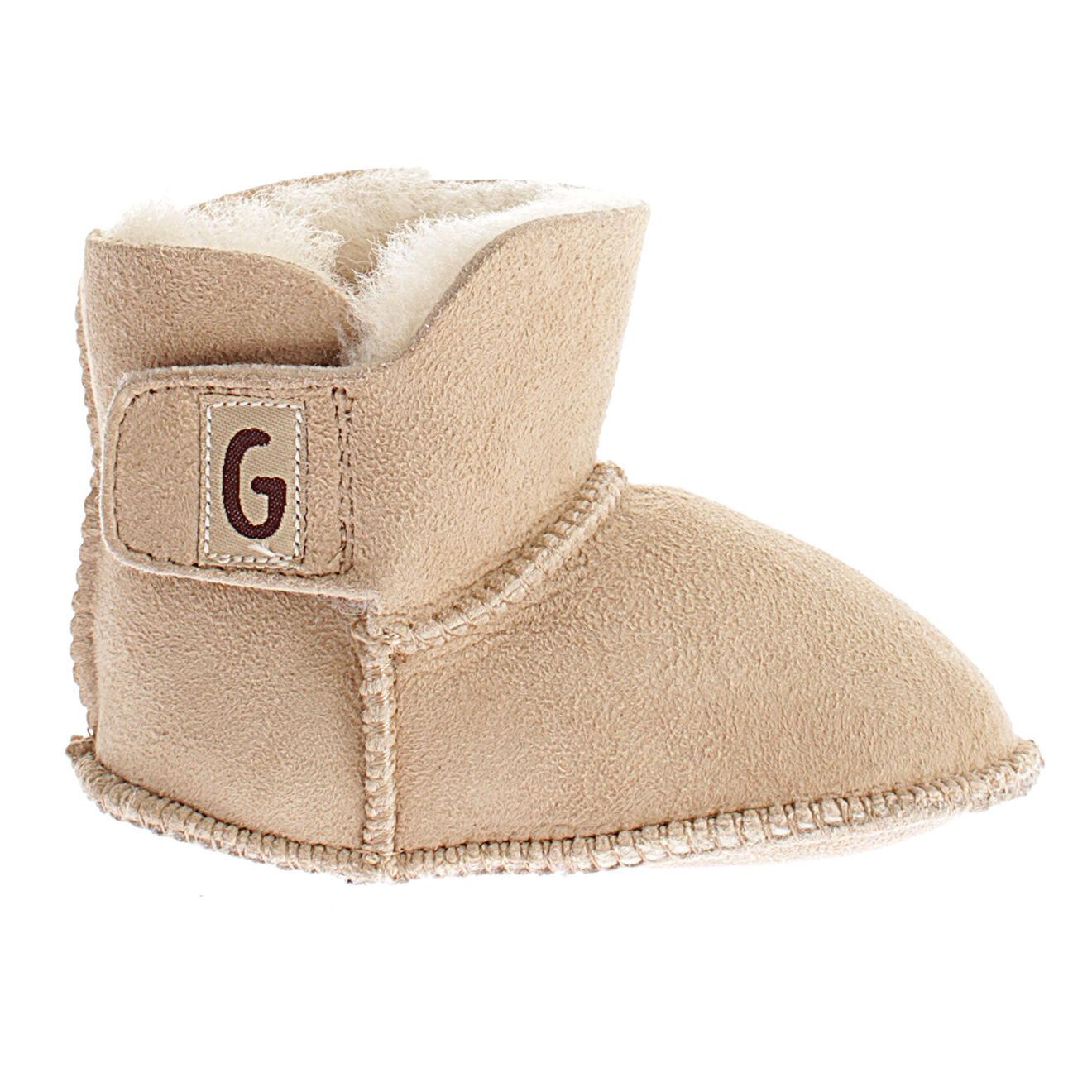 Boots fourrées en Velours de Cuir Charlotte sable