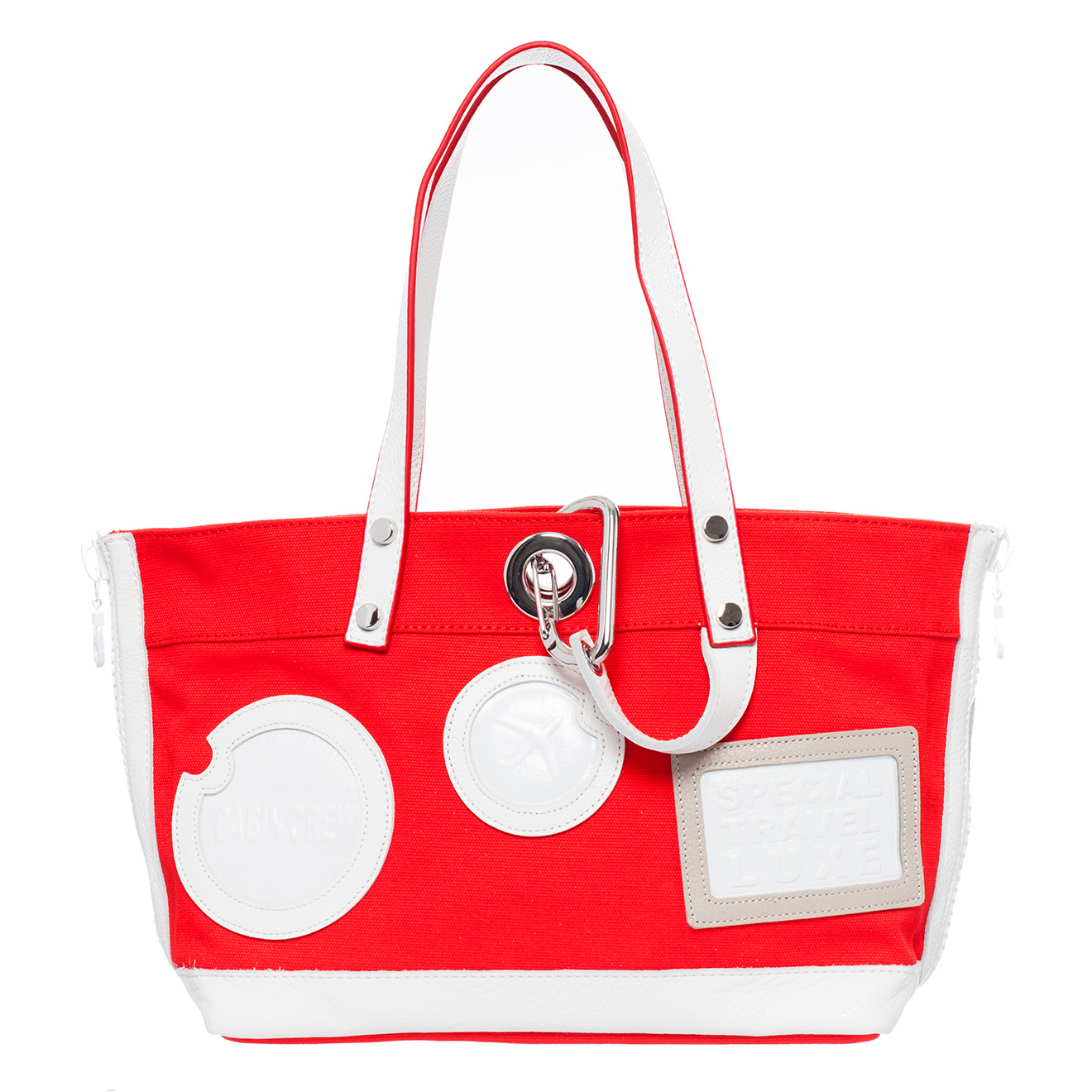 Cabas Julia in Saint Tropez rouge/blanc 37x23.5x14 cm