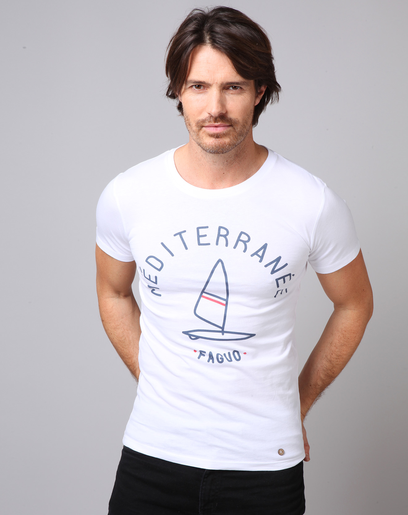 T-Shirt Méditerranée blanc