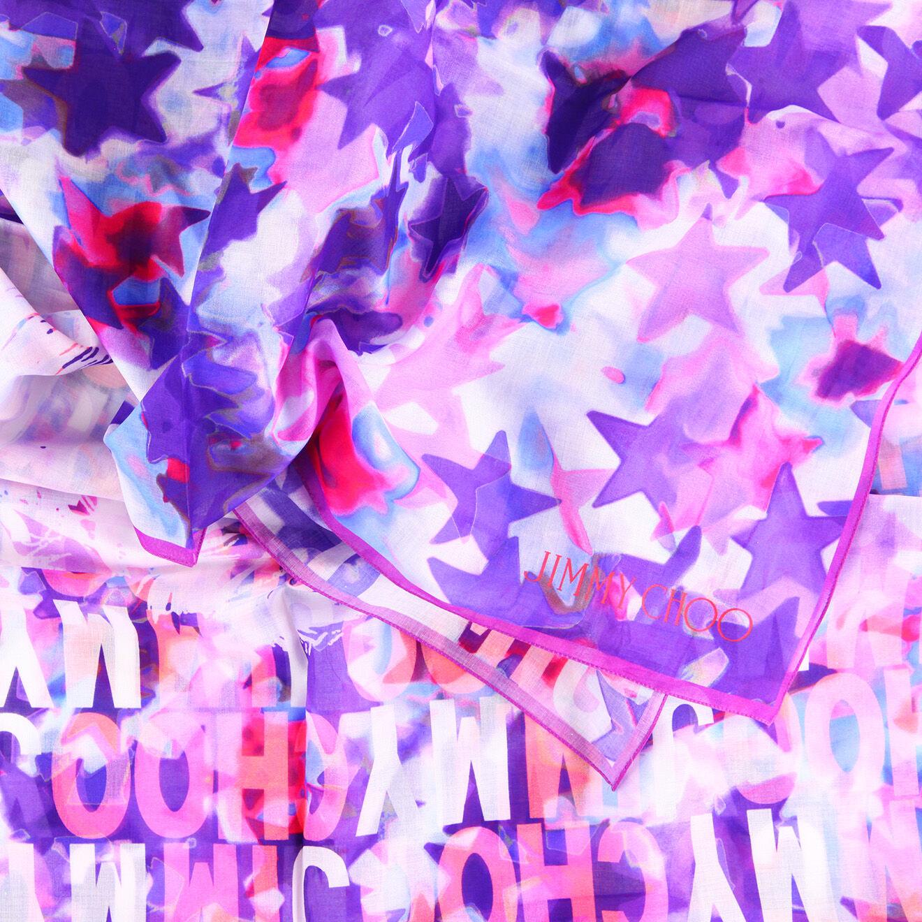 Etole Etoiles fushia/violet - 120x160 cm