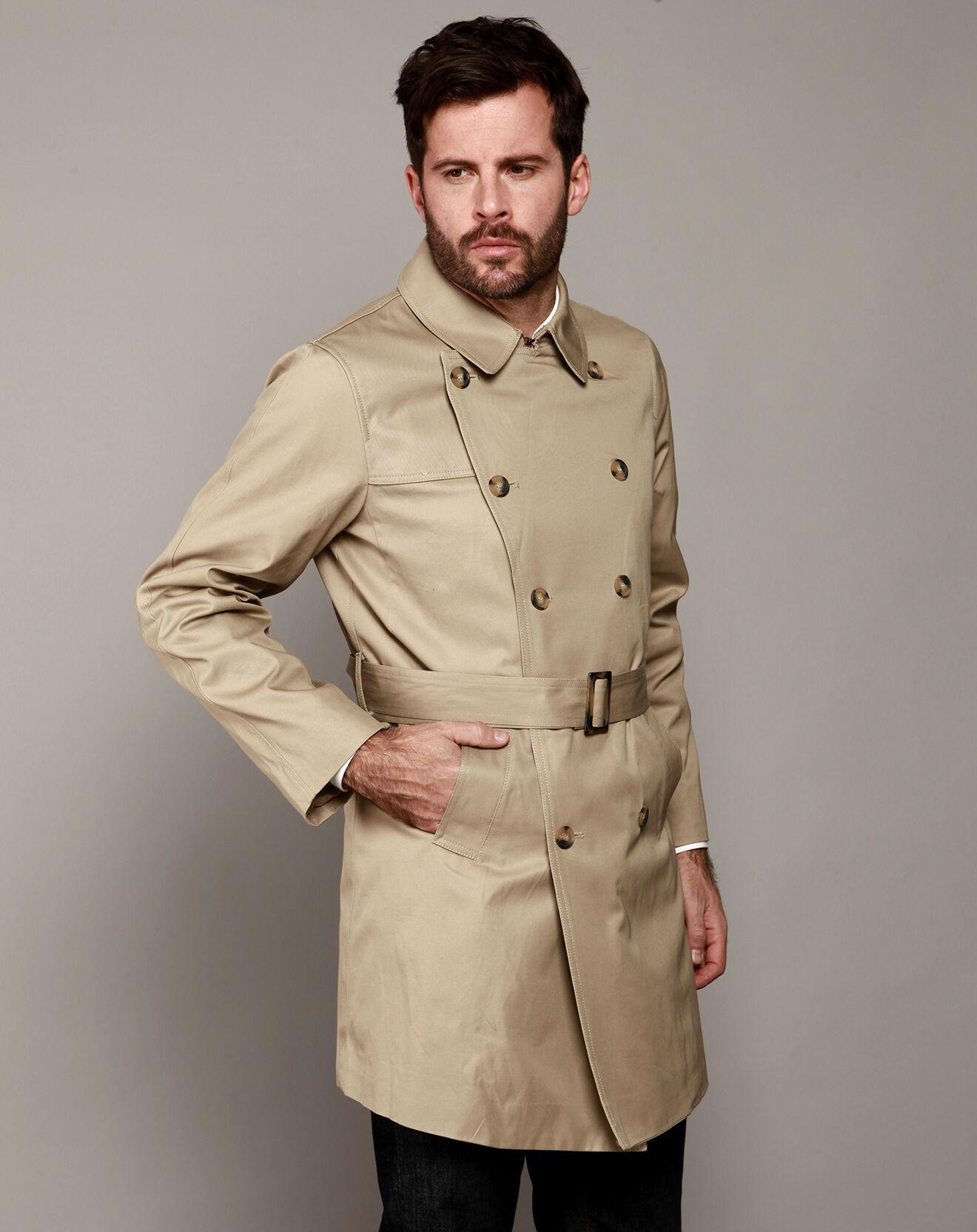 Imperméable trench coat ceinturé beige