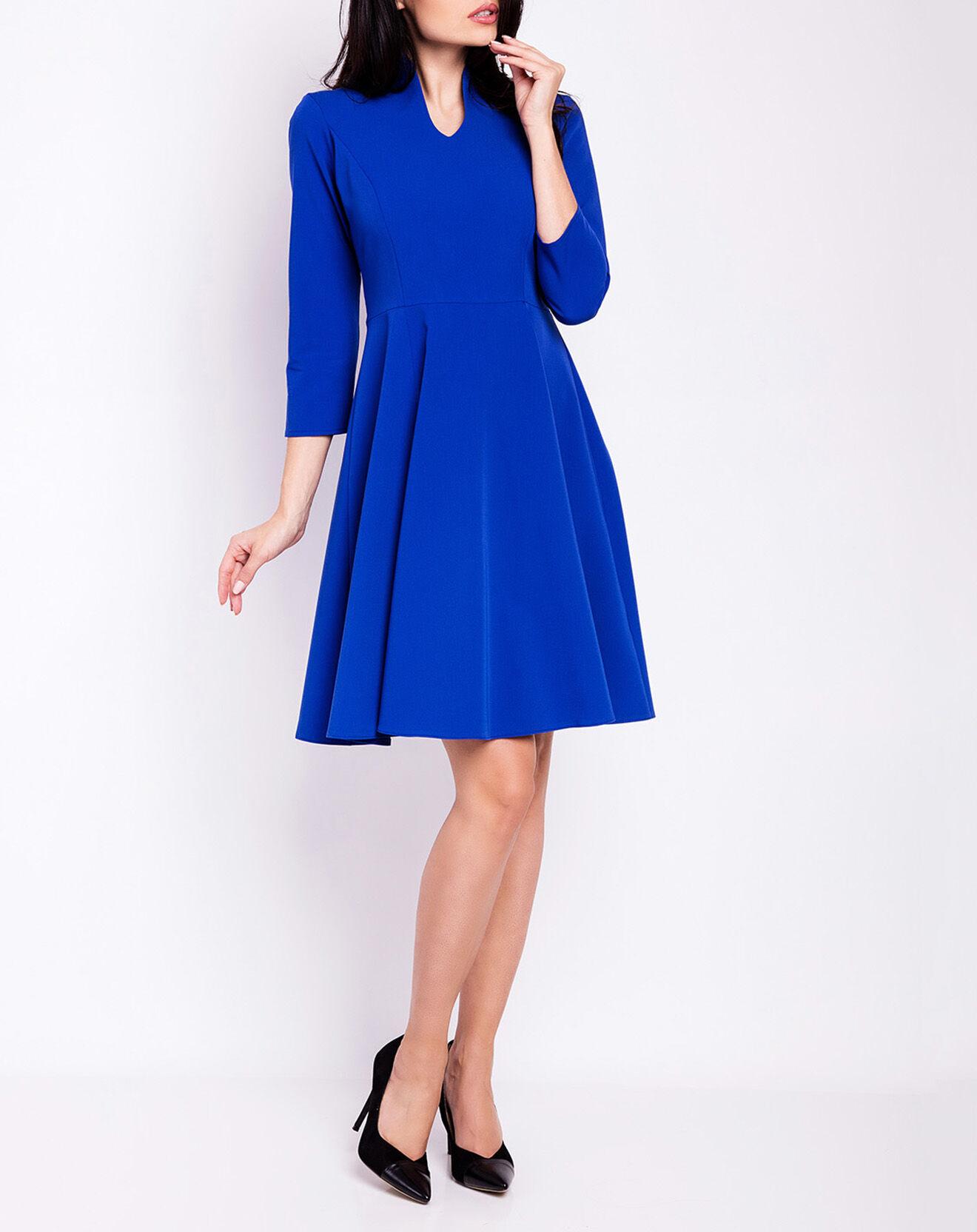Robe unie bleue