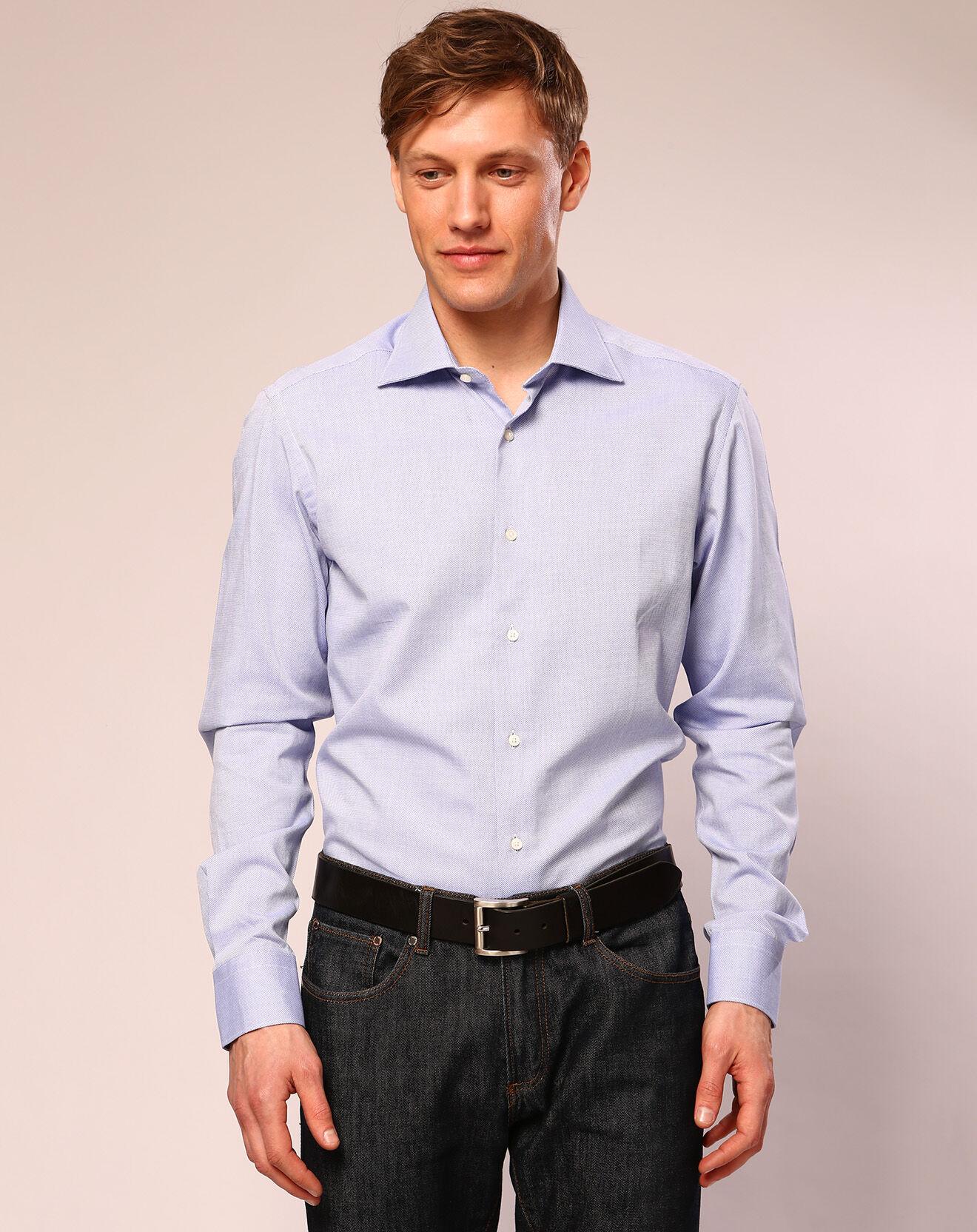 Chemise ajustée Jean bleue