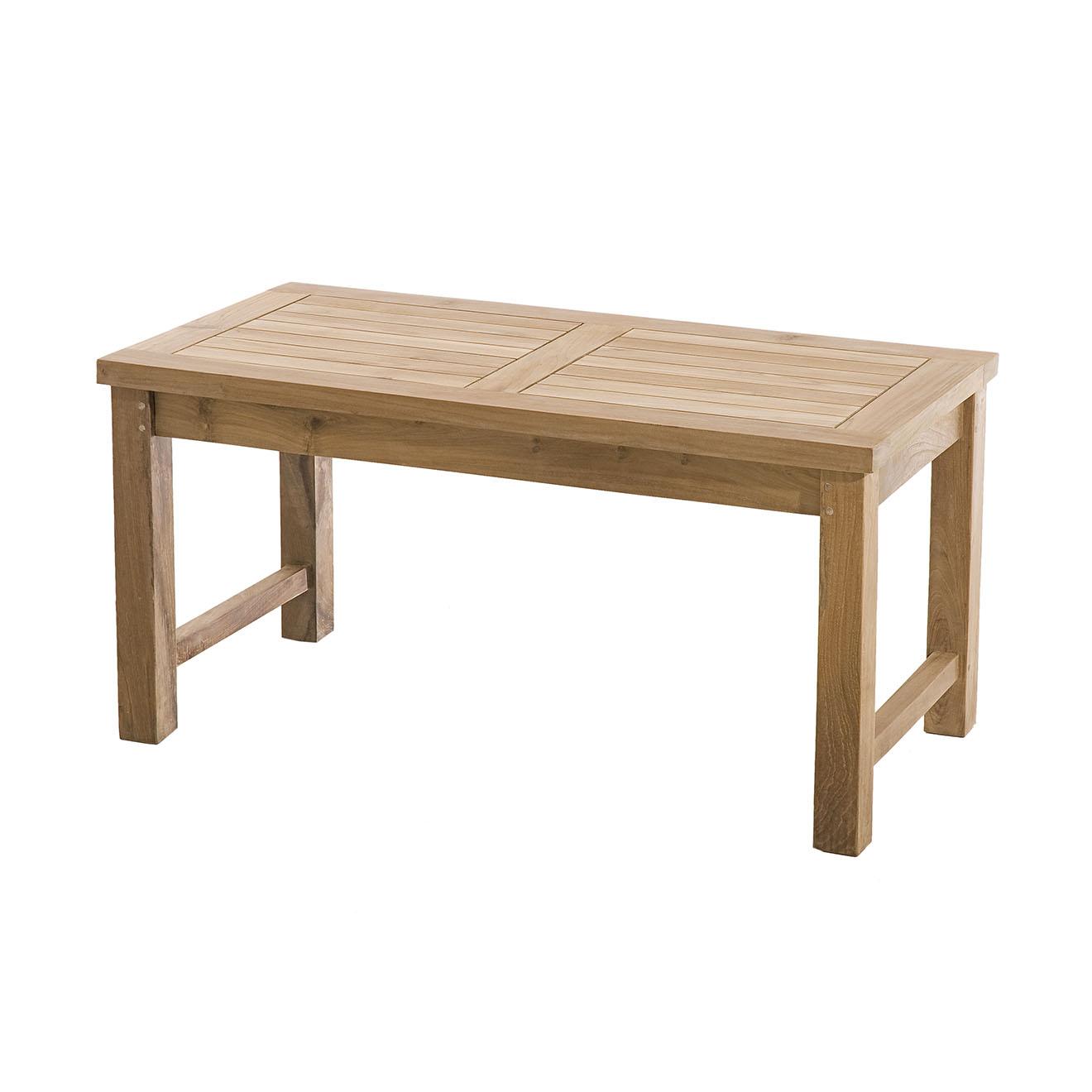 Table basse Fun teck massif - 90x45x45 cm