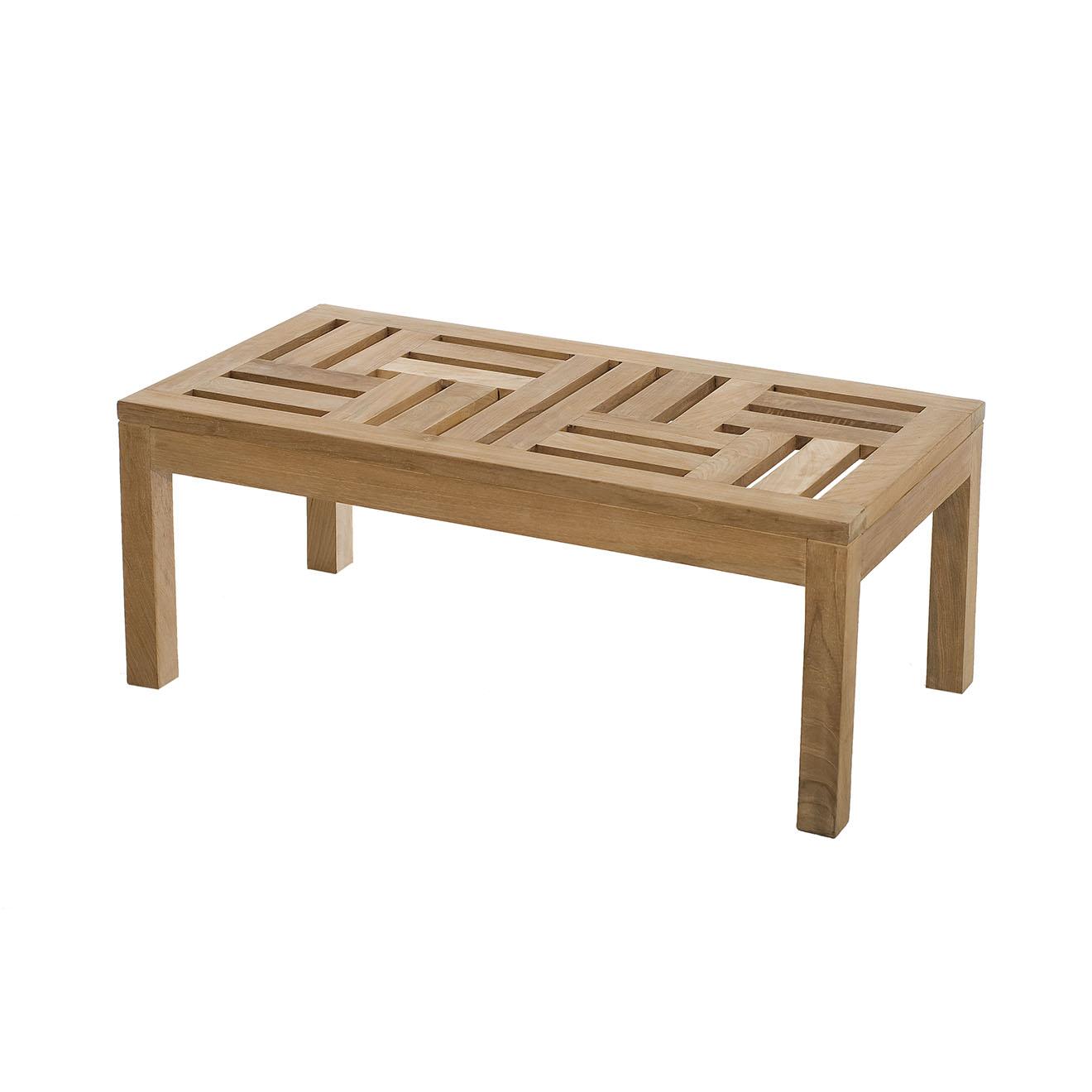 Table basse Fun teck massif - 100x50x40 cm