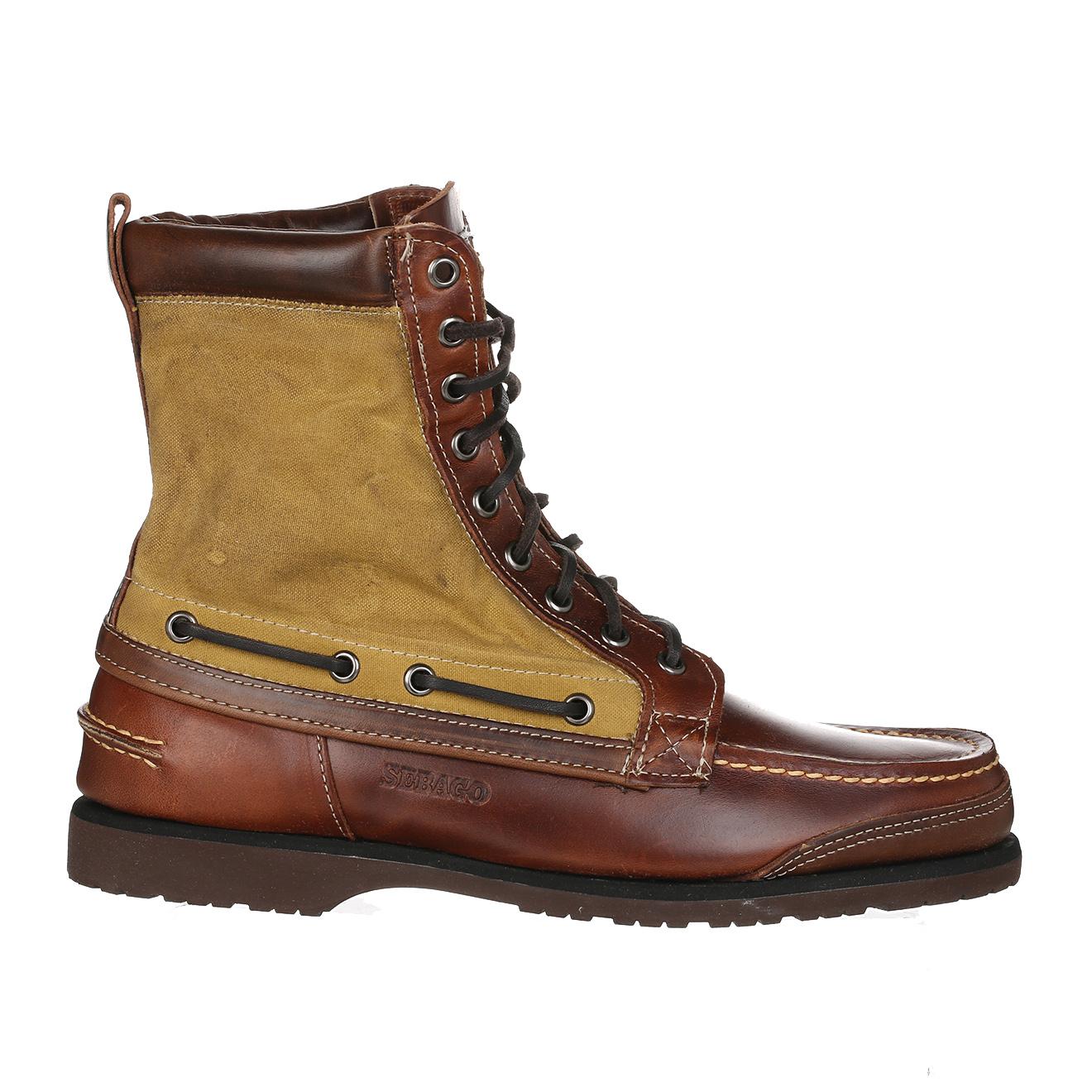 Chaussures Bateau montantes en Cuir & Toile Osmore marron/beige - Sebago - Modalova