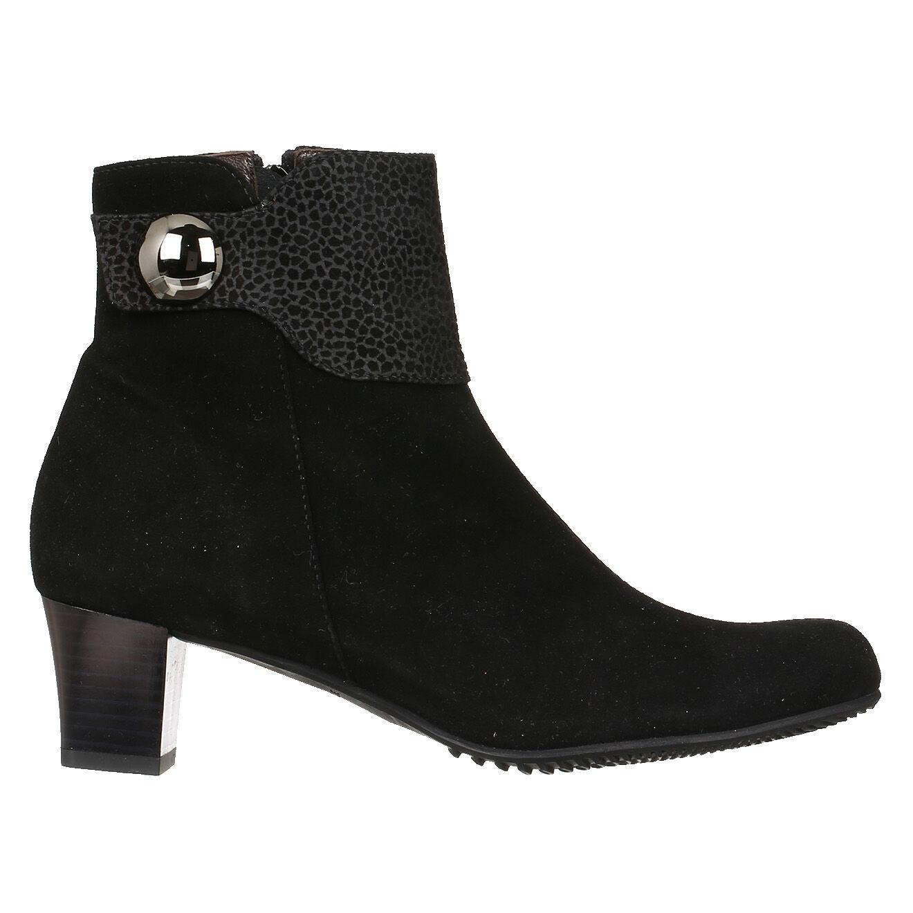 Boots en Velours de Cuir Roxane noires Talon 5cm - Brunate - Modalova