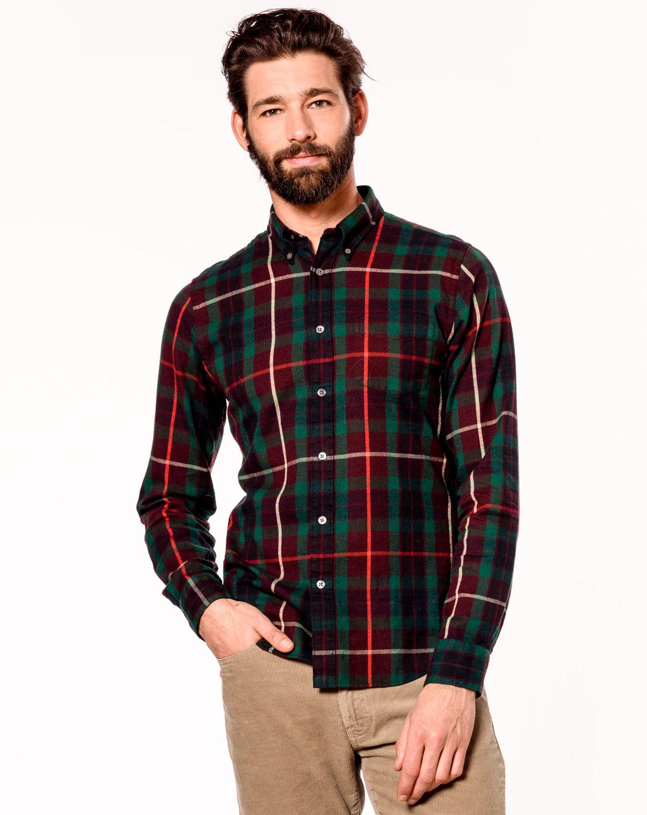 Chemise Mire carreaux rouge/vert