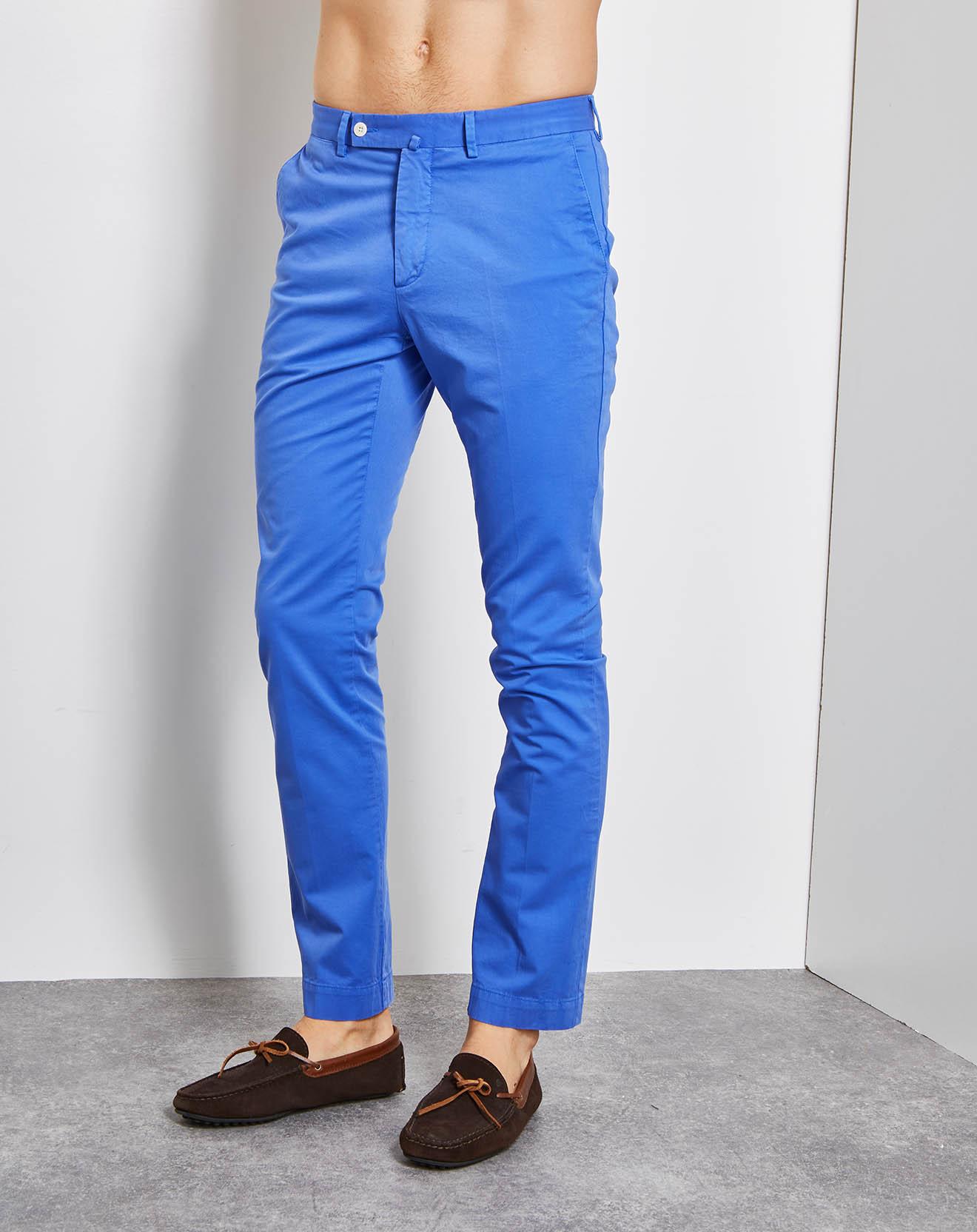 Pantalon Chino Slim Kensington bleu ciel - Hackett London - Modalova