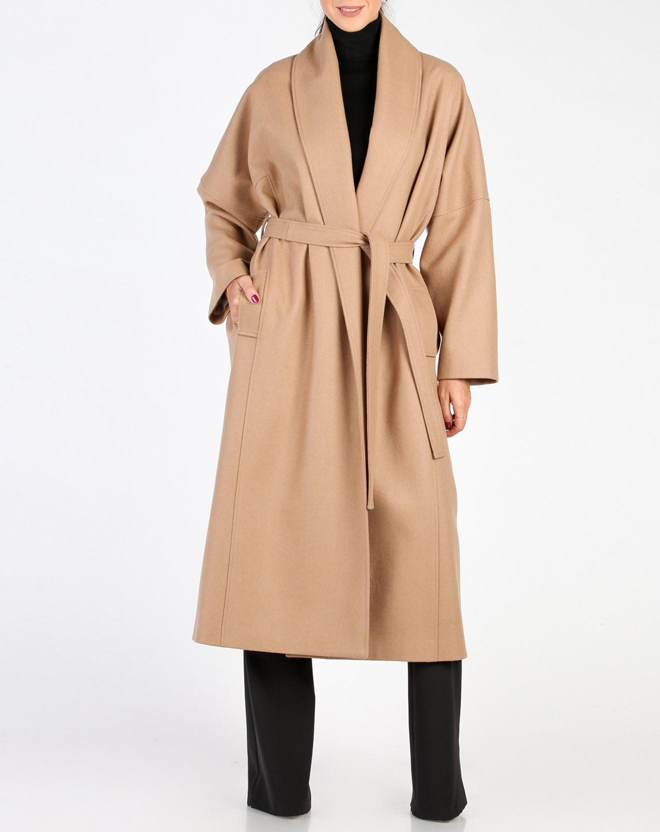 Manteau en Laine mélangée Alba camel
