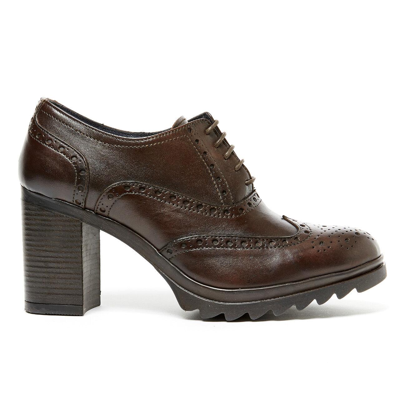Low boots en Cuir Océane marron foncé Talon 8.5 cm