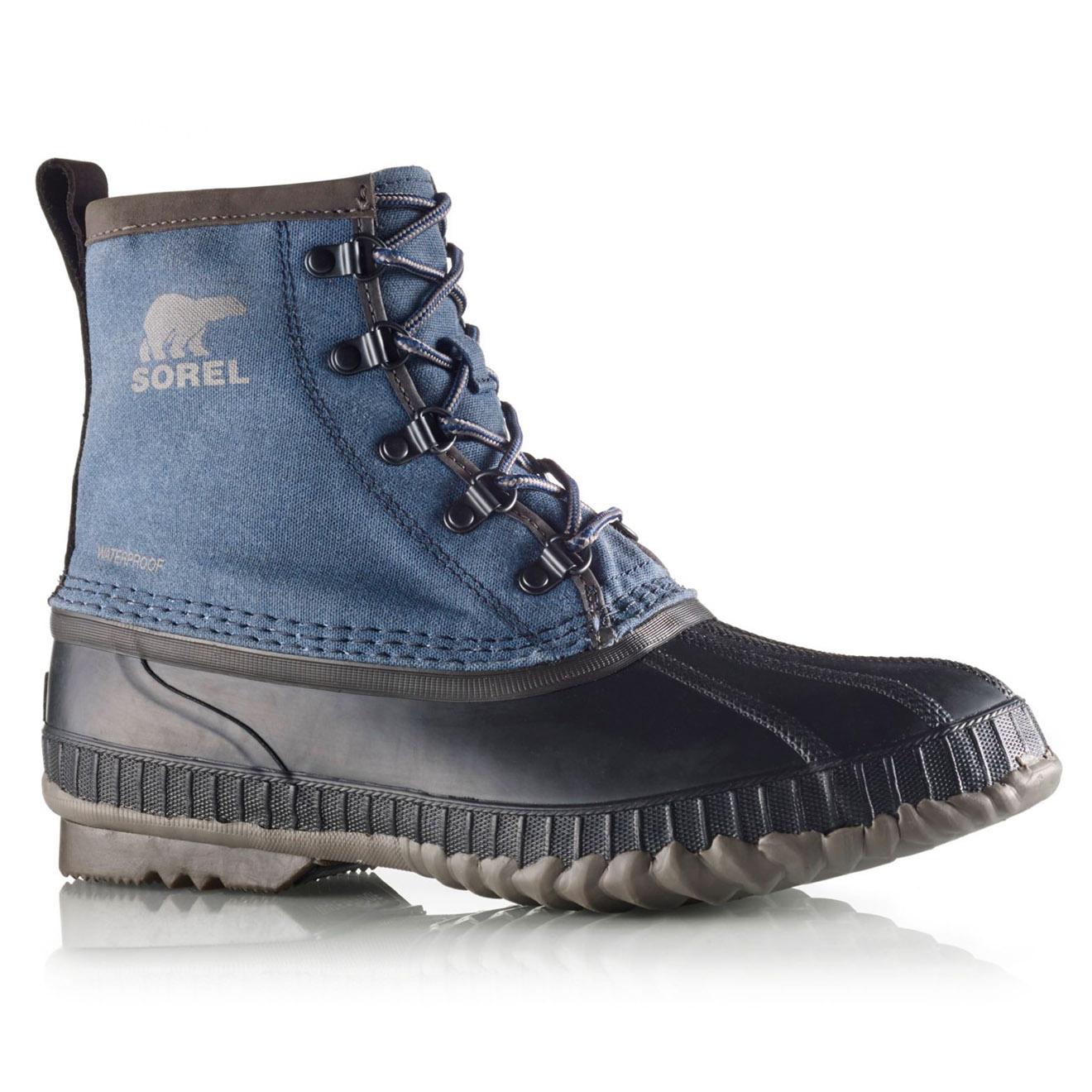 Boots de pluie imperméables Cheyanne II Short CVS bleu jean/noir - Sorel - Modalova