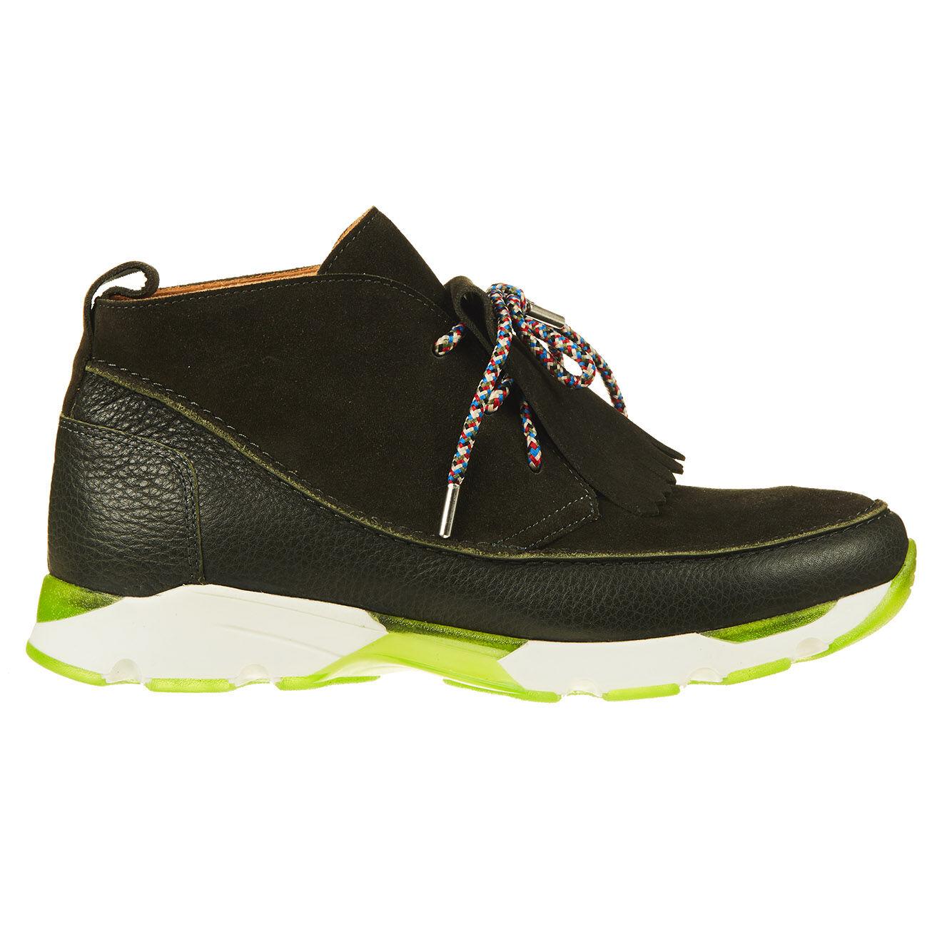 Sneakers à franges en Cuir kaki foncé