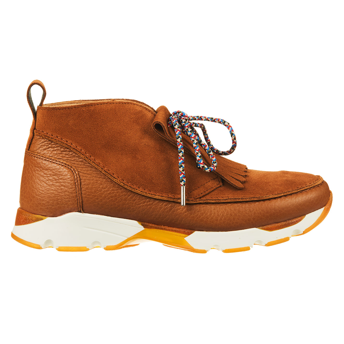 Sneakers à franges en Cuir cognac