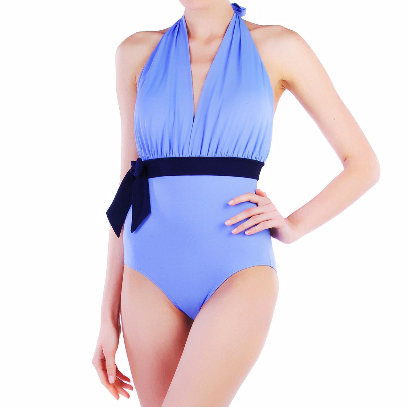 Maillot de bain 1 Pièce Danielle bleu provence/bleu marine