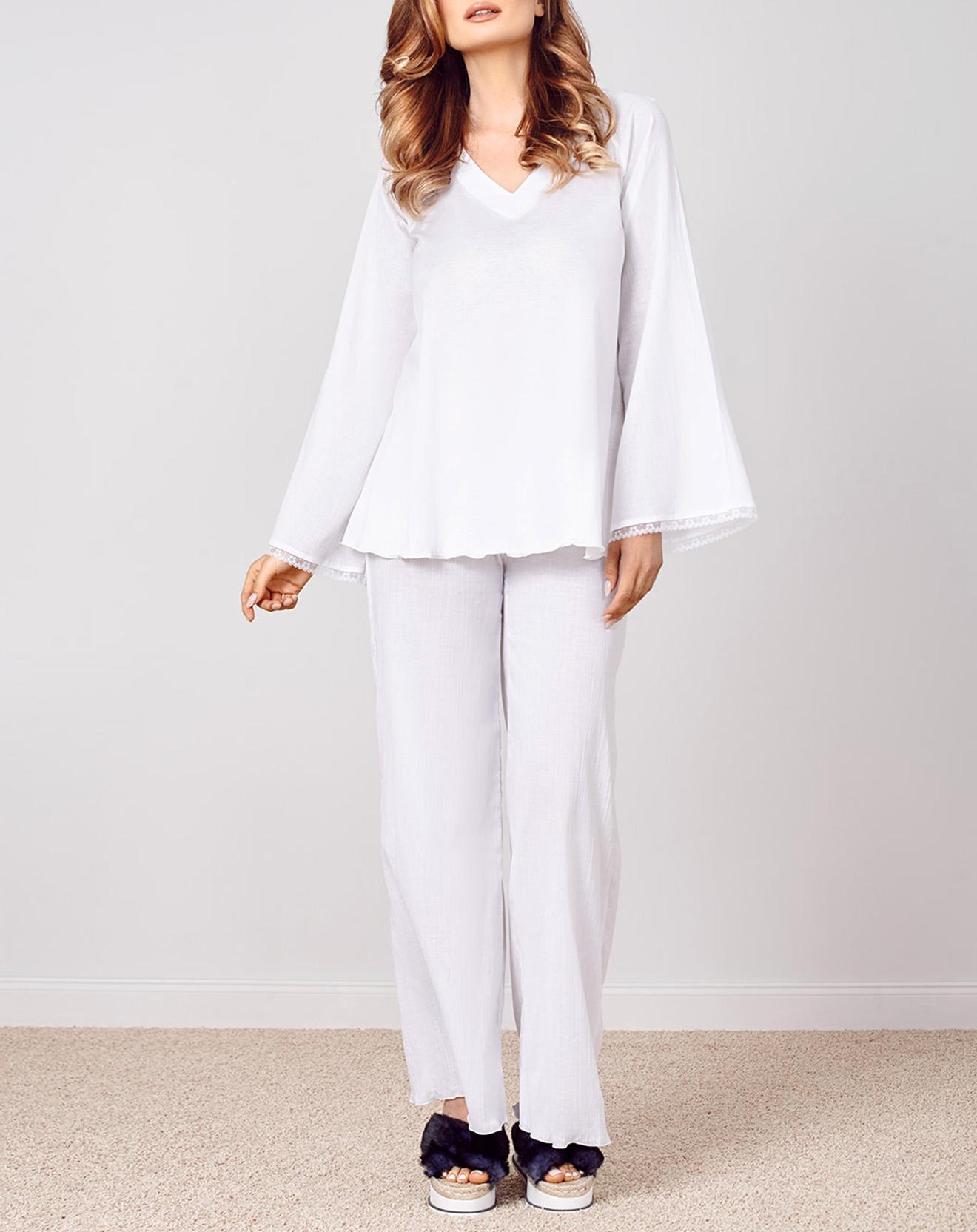 Pyjama Caroline blanc