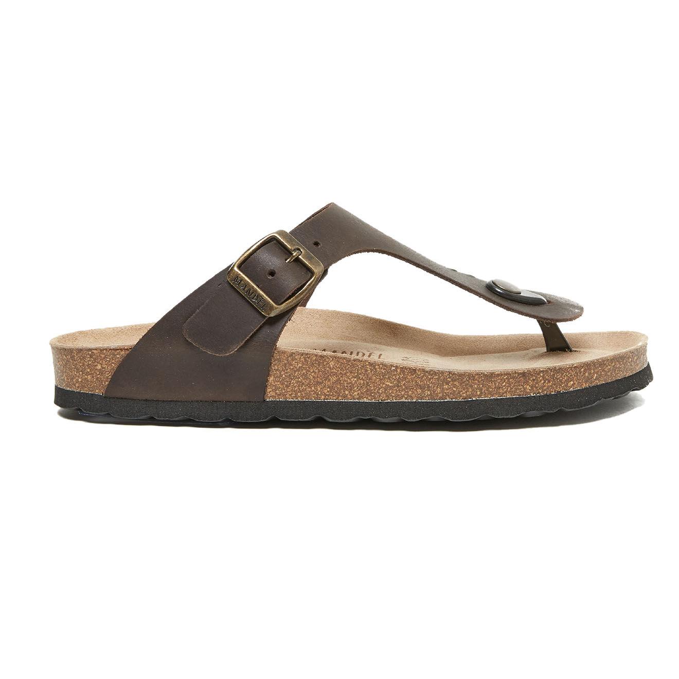 Sandales en Cuir Blanca marron foncé