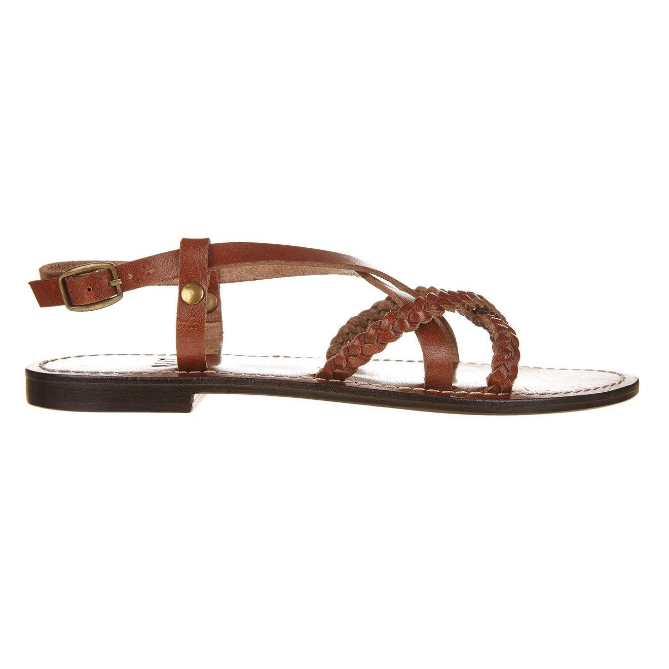 Sandales en Cuir Daria marron