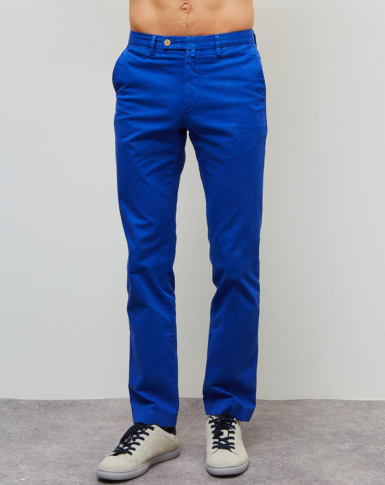 Pantalon chino Sanderson bleu klein - Hackett London - Modalova
