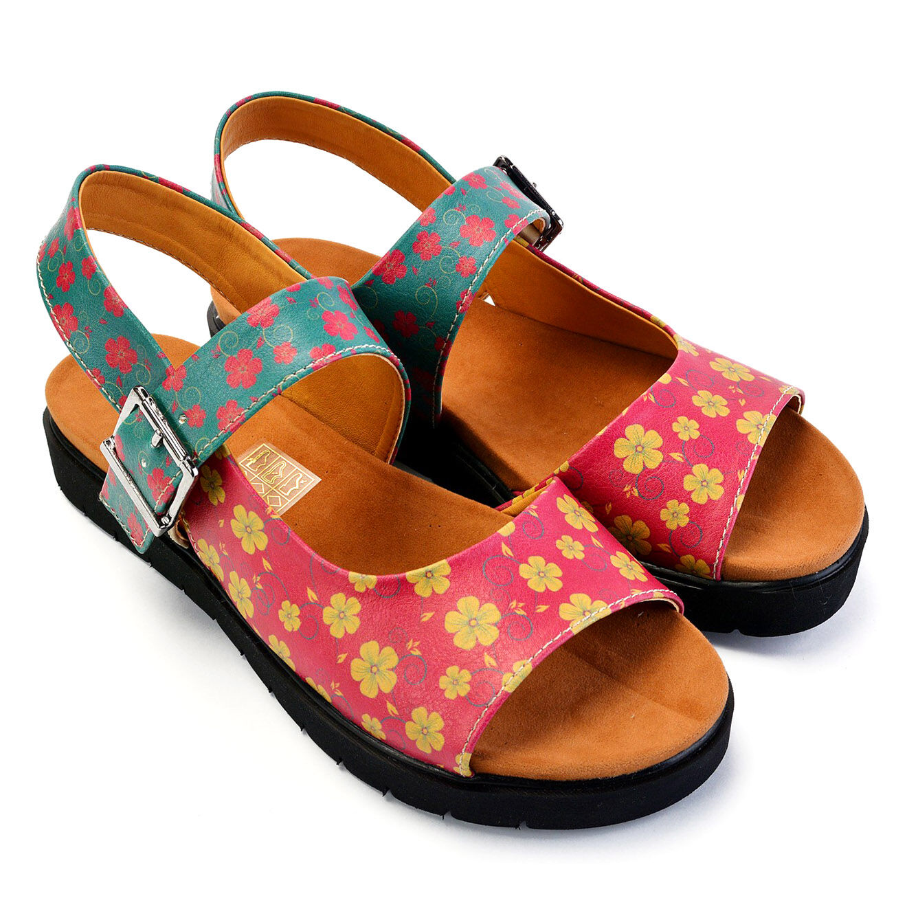 Sandales Martine multicolores