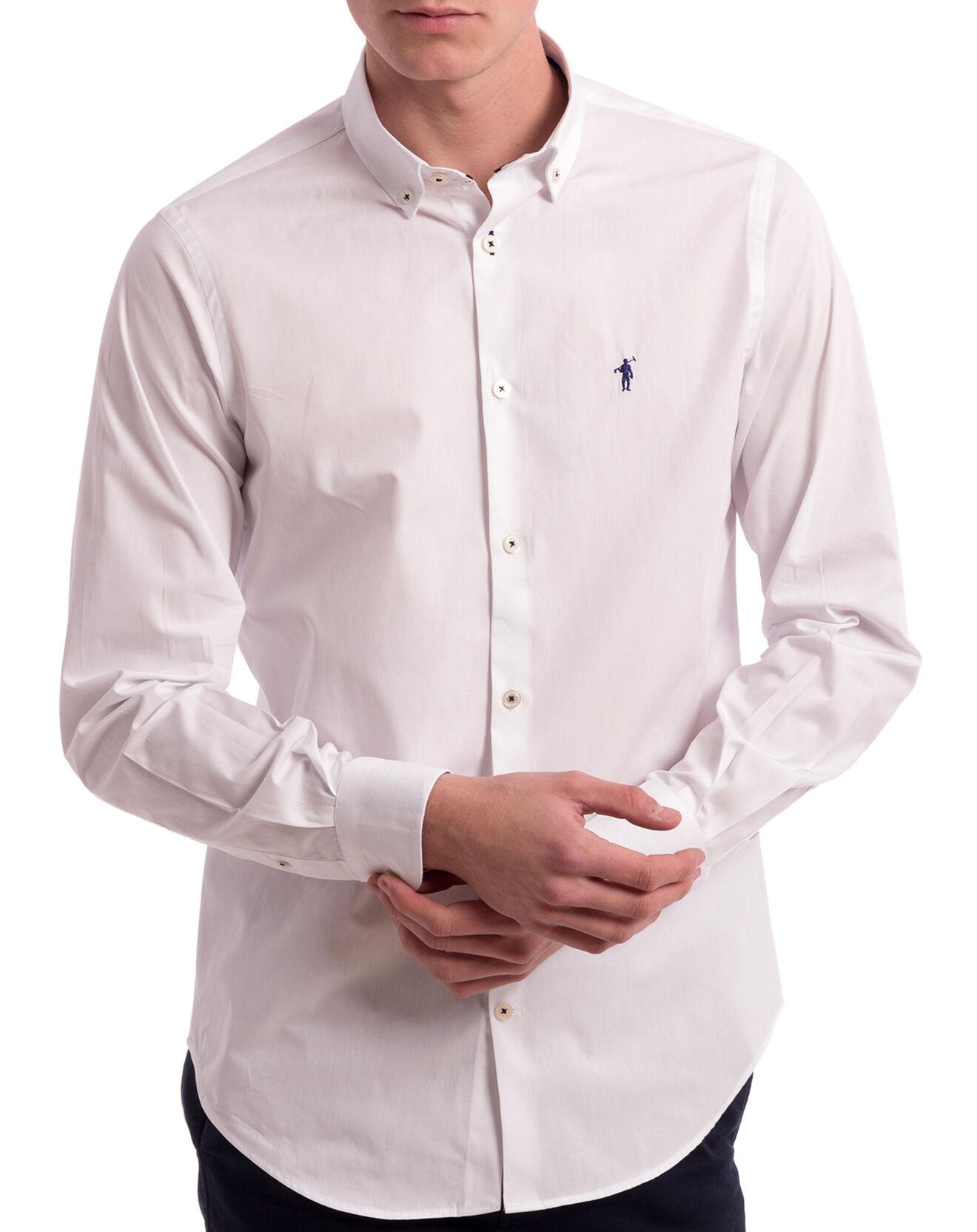 Chemise col américain blanche