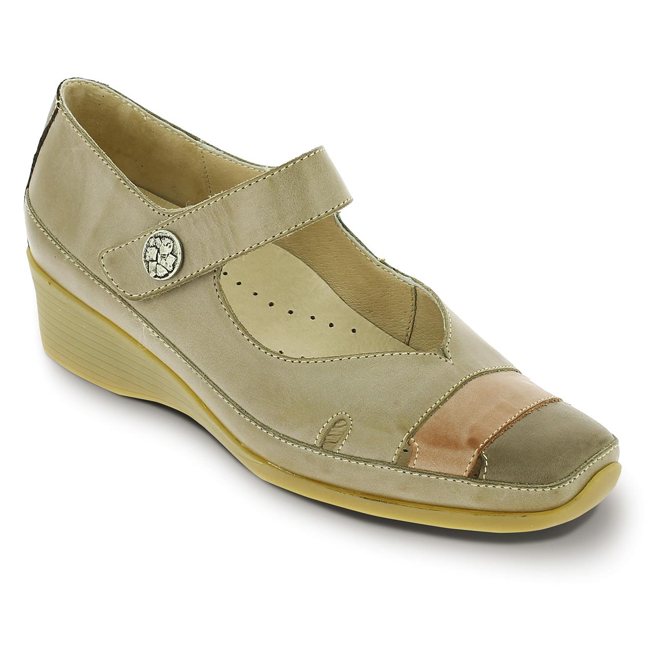 Sandales en Cuir Duneo beige foncé