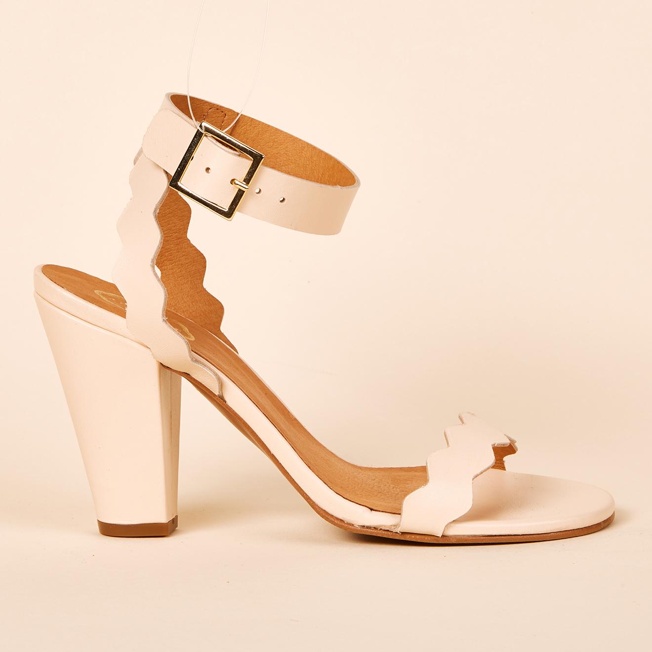 Sandales en Cuir nude - Talon 9 cm - Apologie - Modalova