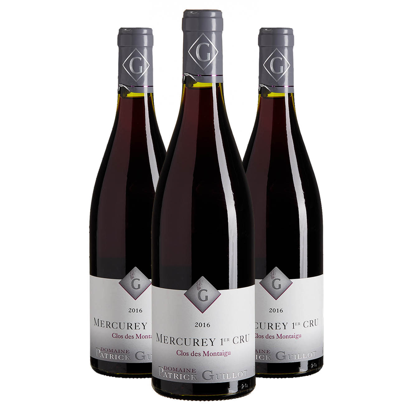 3 Mercurey 1er Cru clos des montaigu 2016 P. Guillot 75cl