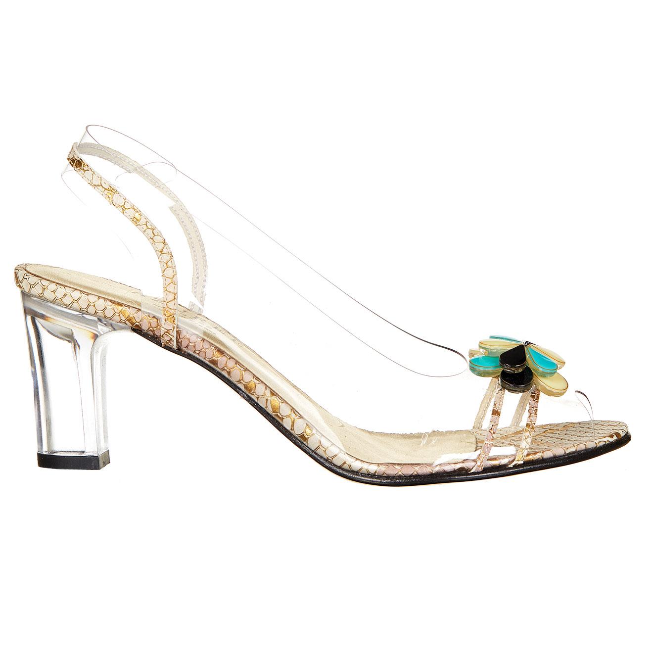 Sandales Naple dorées - Talon 6 cm
