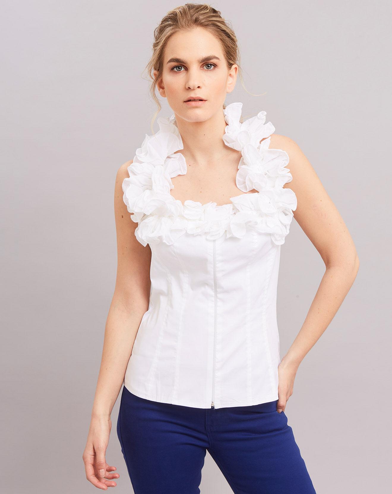 Top Mirabelle blanc