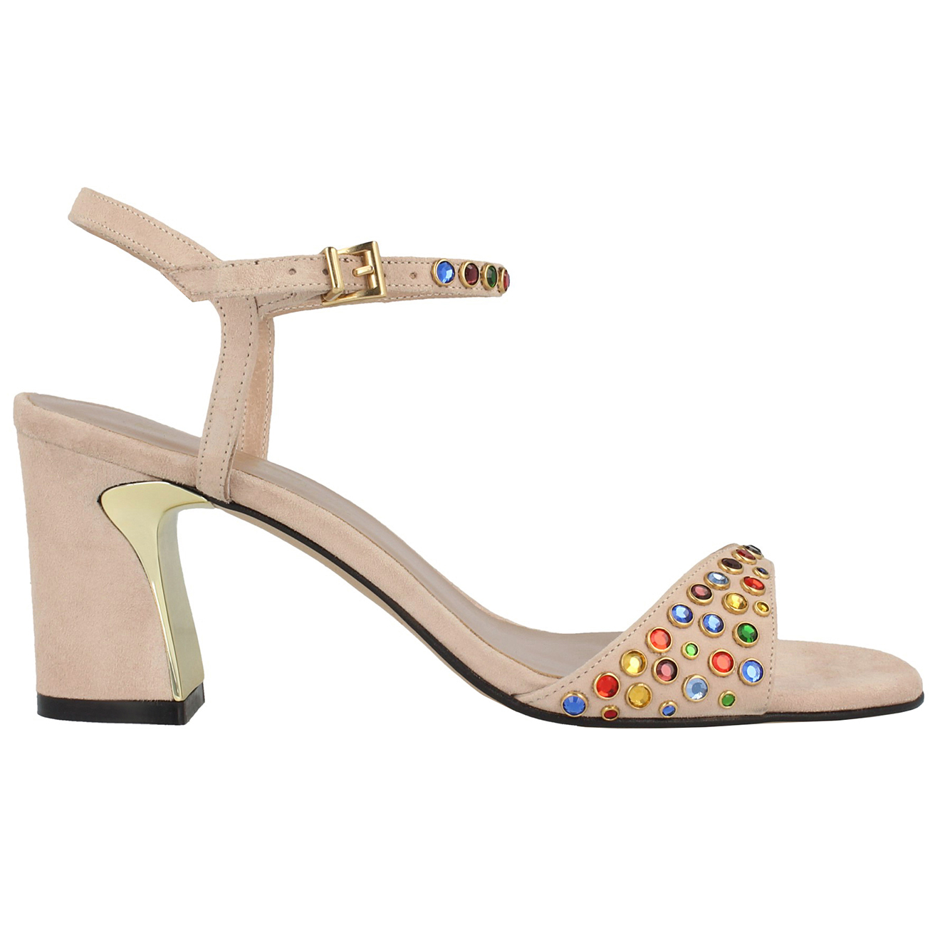 Sandales en cuir nude Talon 7cm - Roberto Botella - Modalova
