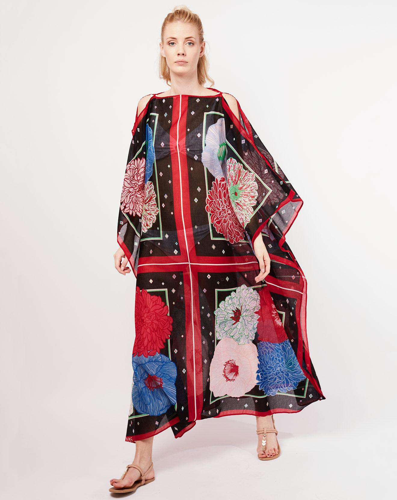 Robe ample Mily Bouquet noir/multicolore