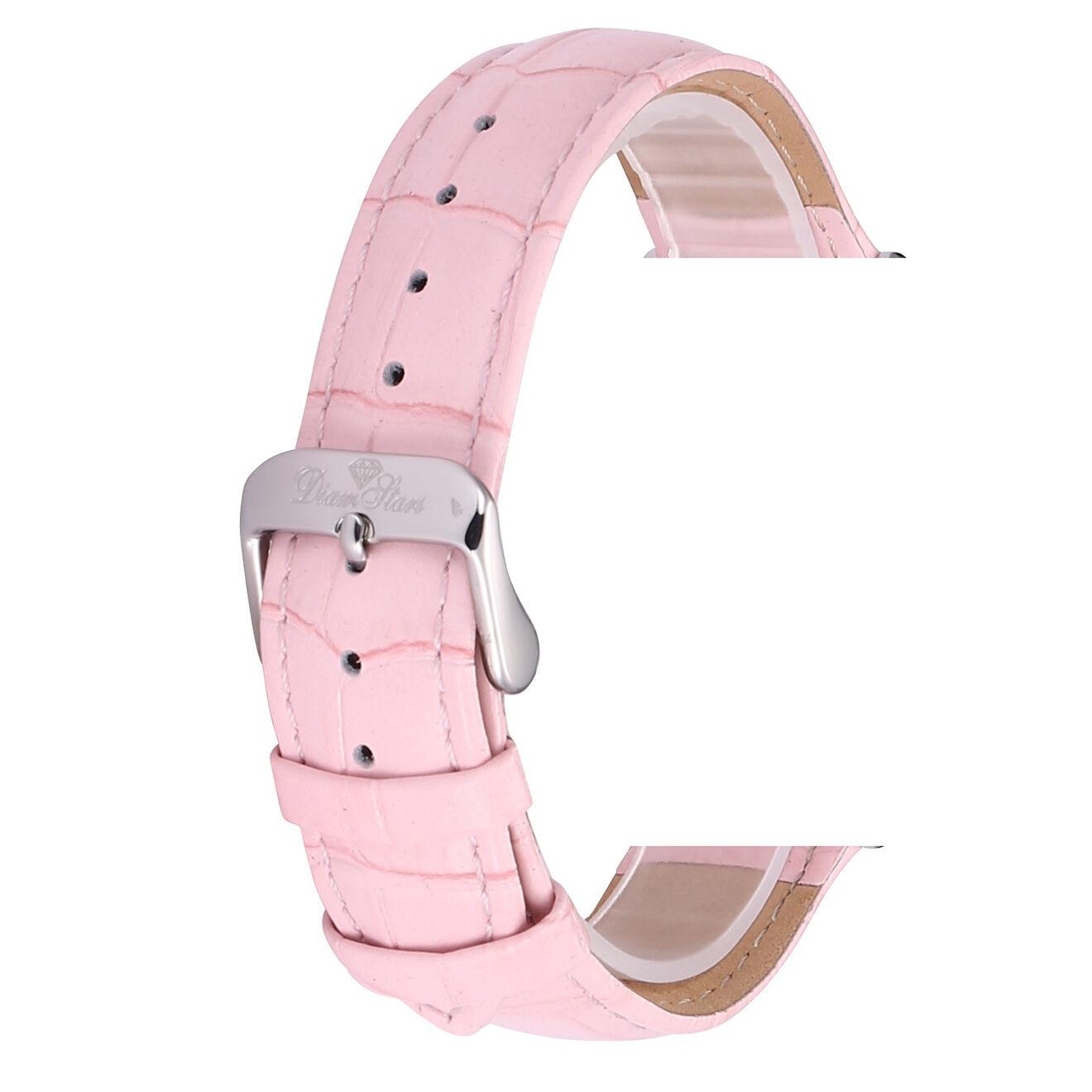 Bracelet en Cuir rose - compatible avec Montre Ya8 et Majestic