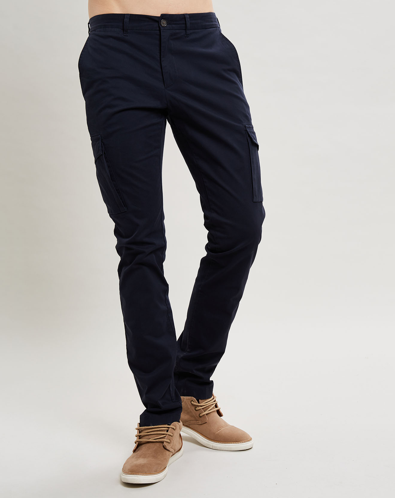 Pantalon Slim Fit Uni 6 Poches bleu foncé - Façonnable - Modalova